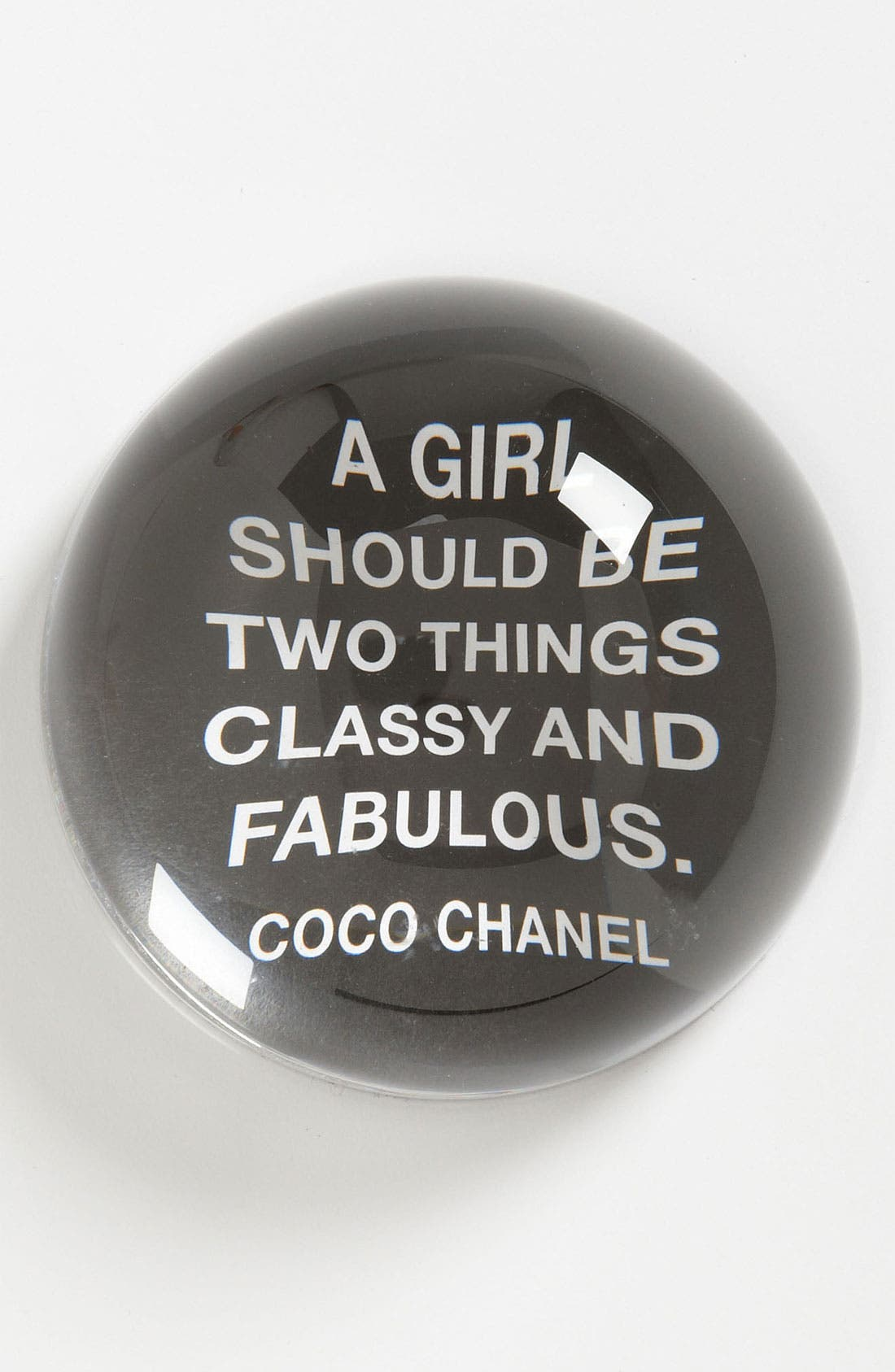 'A Girl Should Be' Paperweight,                             Main thumbnail 1, color,