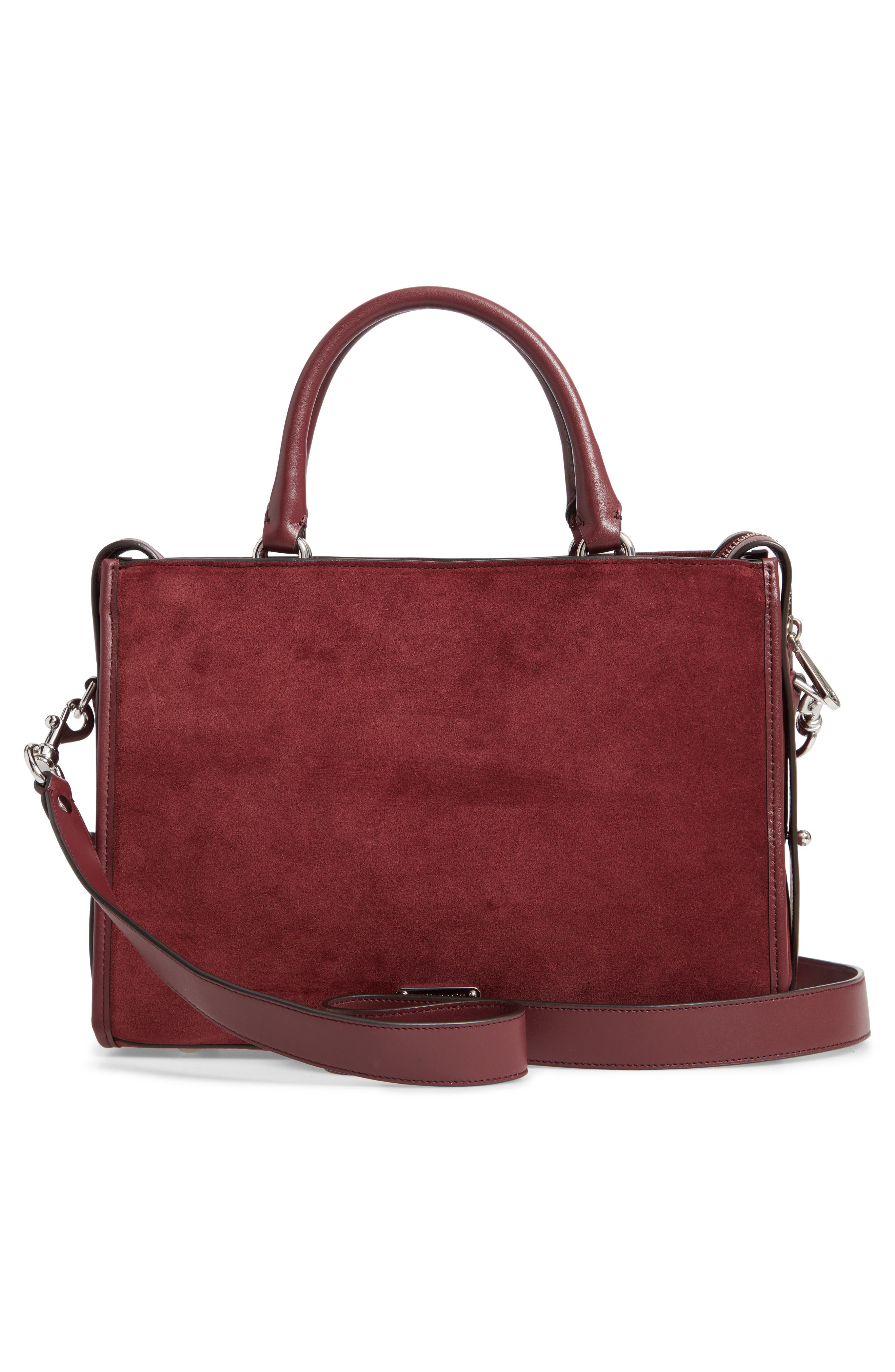 Bedford Suede Satchel,                             Alternate thumbnail 3, color,                             600