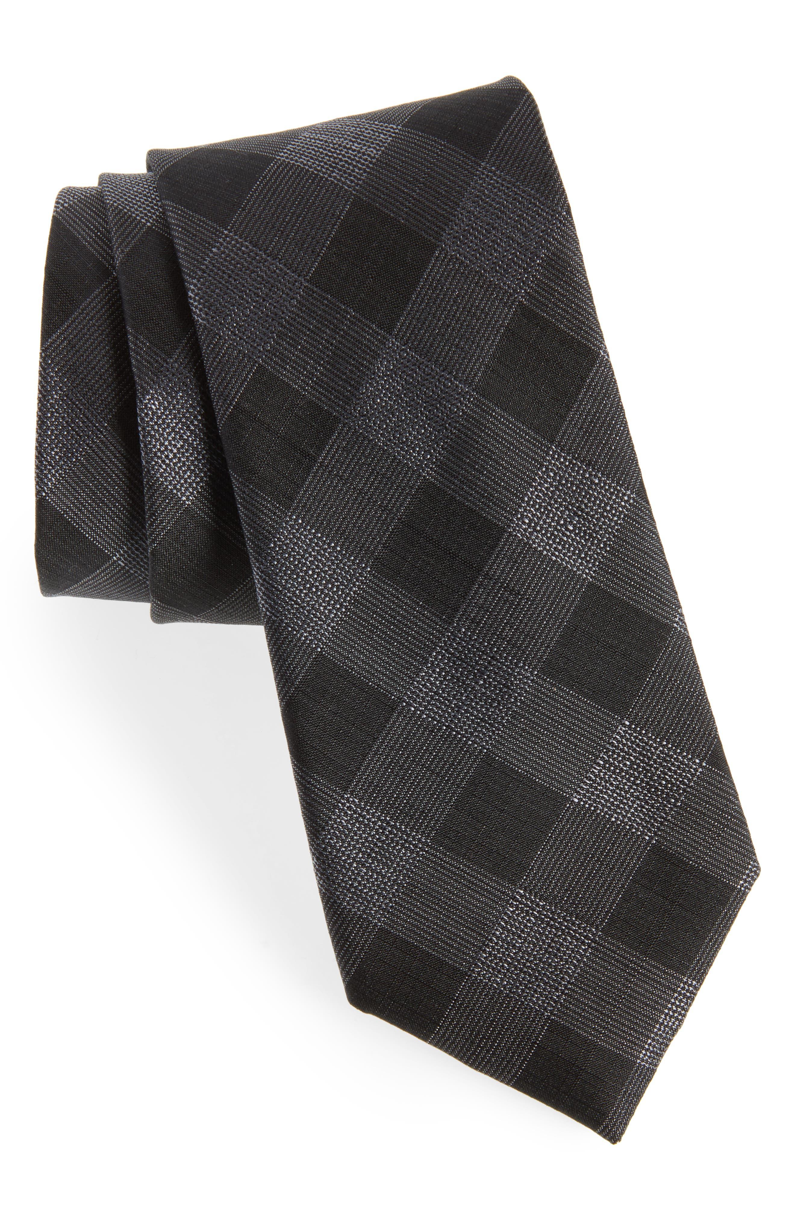 Raymer Check Silk Tie,                             Main thumbnail 1, color,                             001
