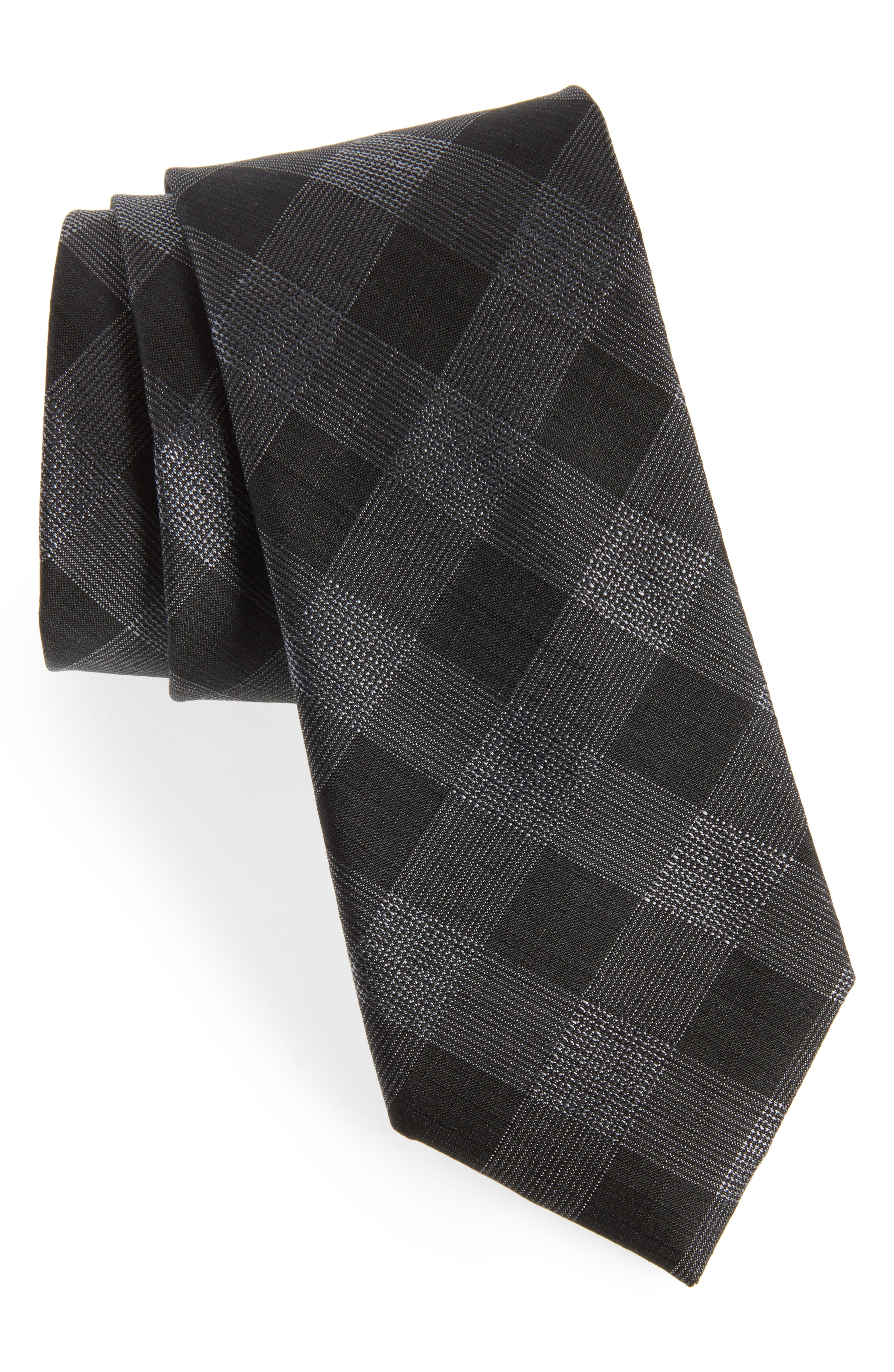Raymer Check Silk Tie,                         Main,                         color, 001