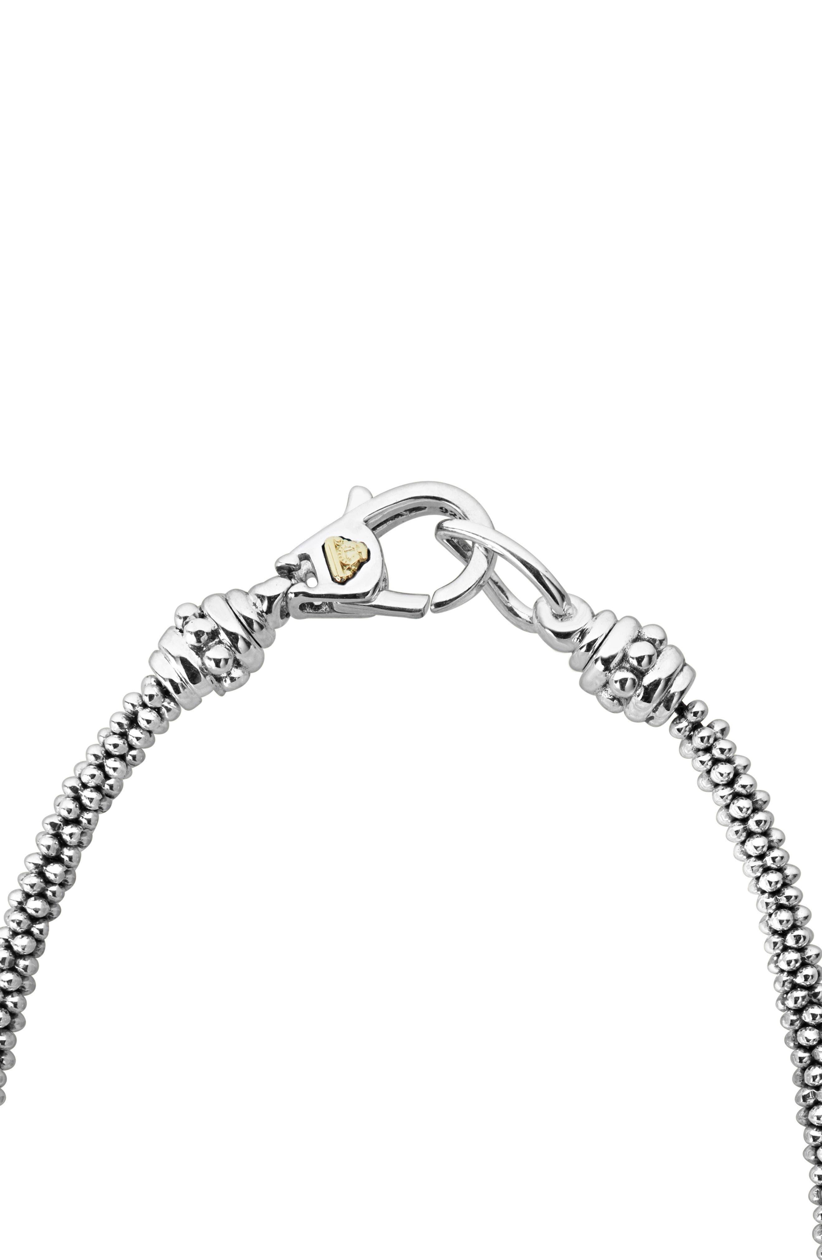 Lux Diamond Rope Necklace,                             Alternate thumbnail 3, color,                             SILVER/ DIAMOND