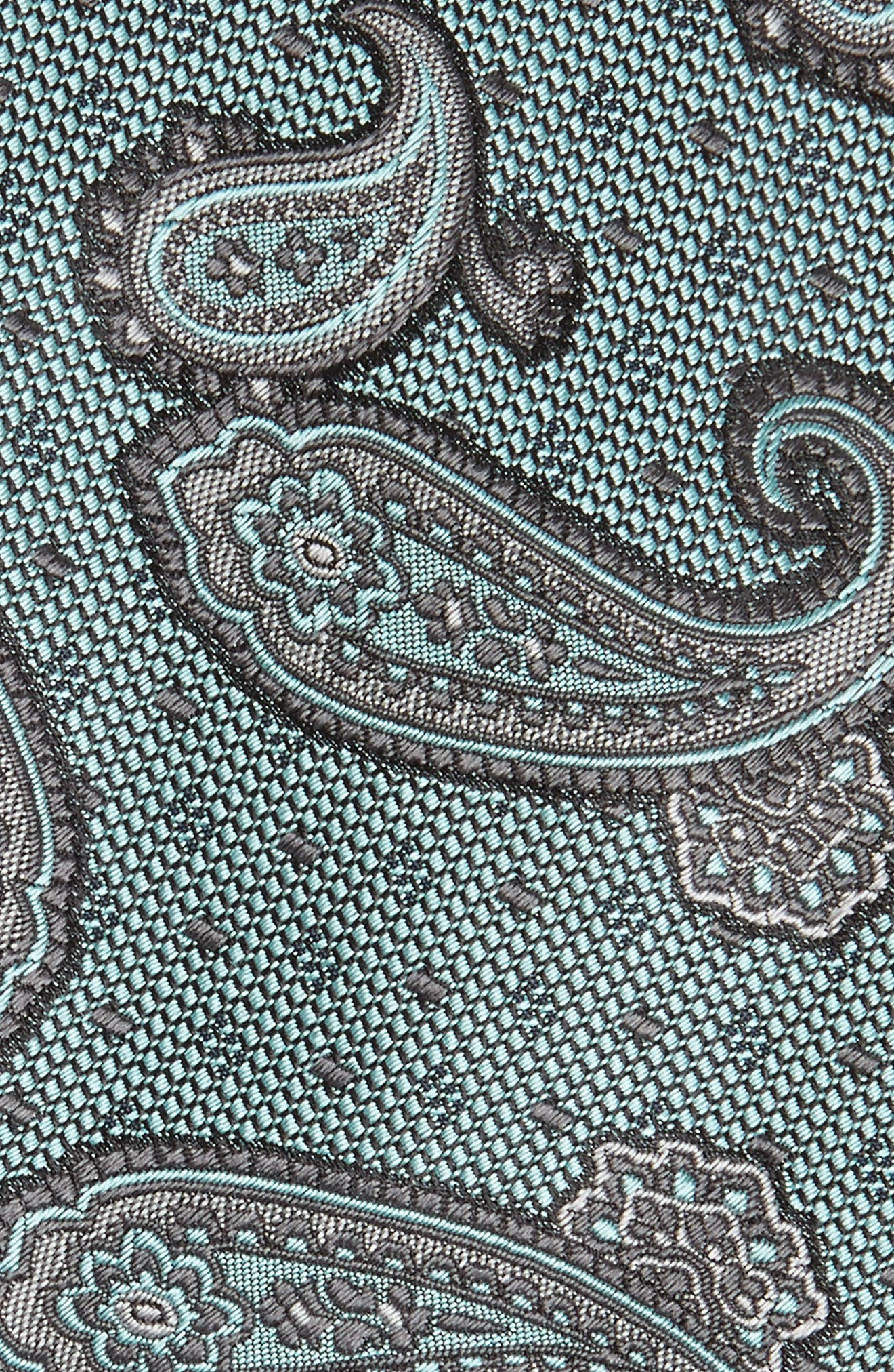 Paisley Silk Tie,                             Alternate thumbnail 2, color,                             BLUE/ GREEN