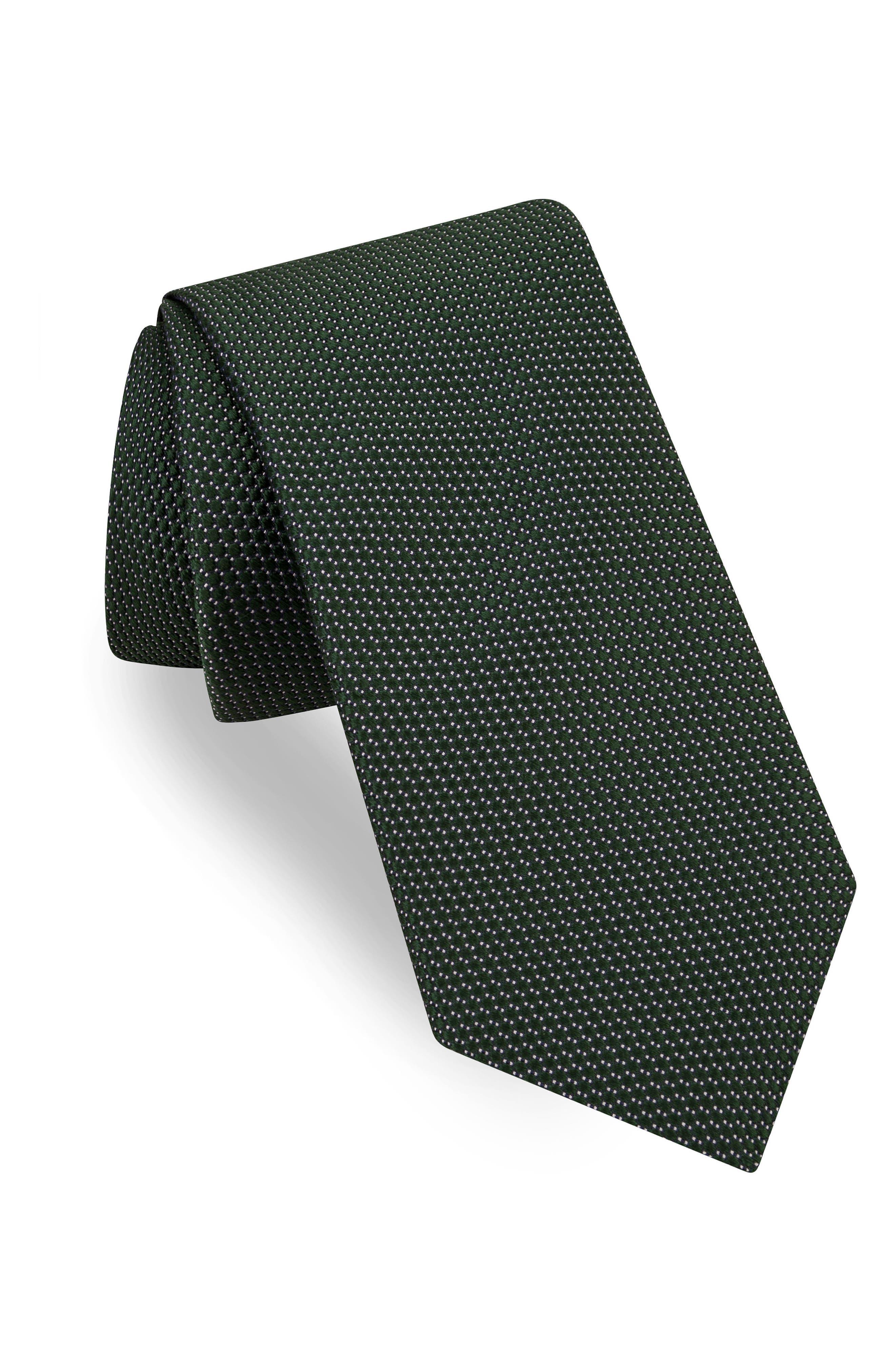 Micro Solid Silk Tie,                         Main,                         color, 301