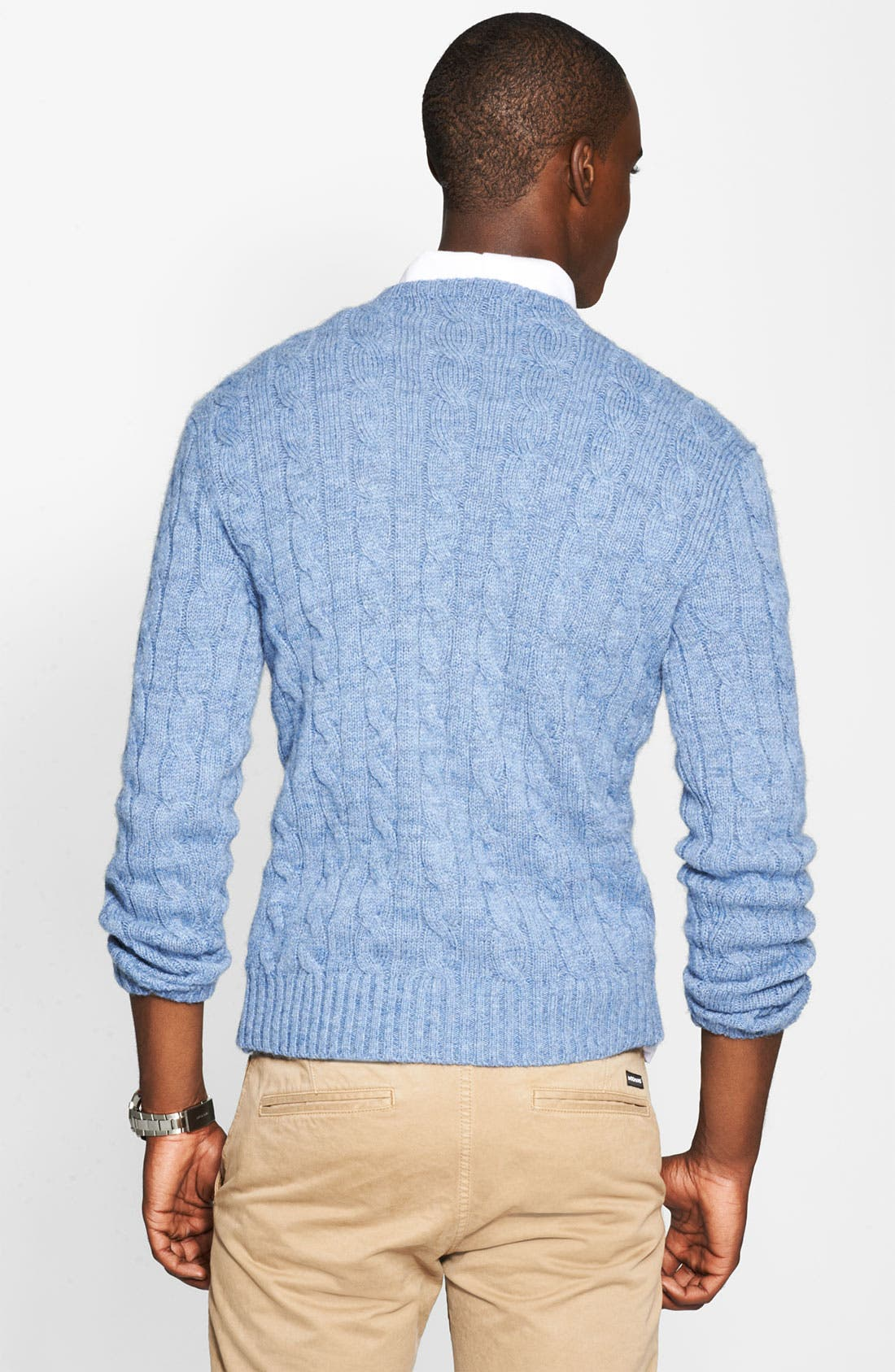 Cable Knit Cashmere Sweater,                             Alternate thumbnail 2, color,                             420