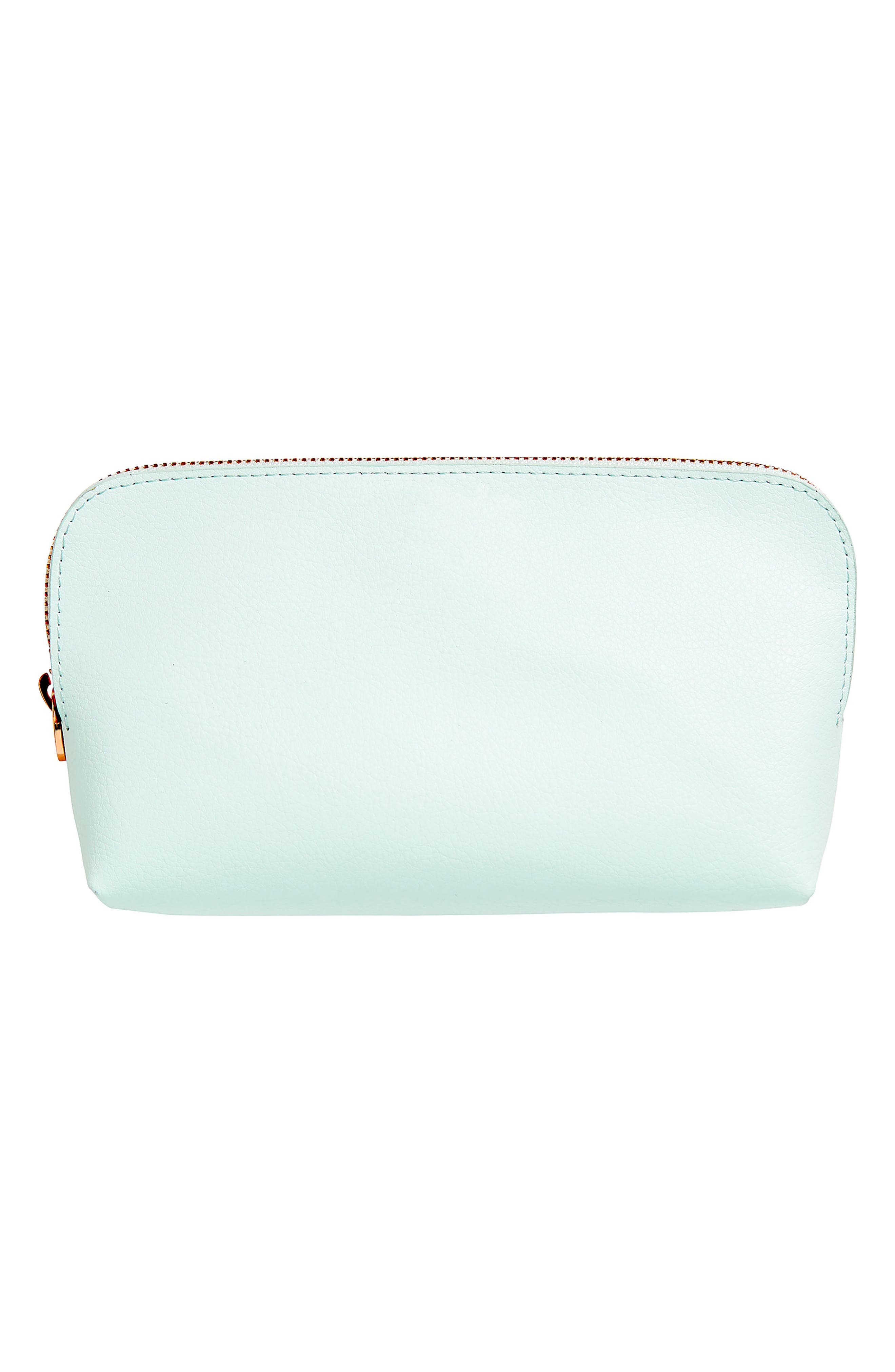 Essential Leather Zip Pouch,                         Main,                         color, MINT