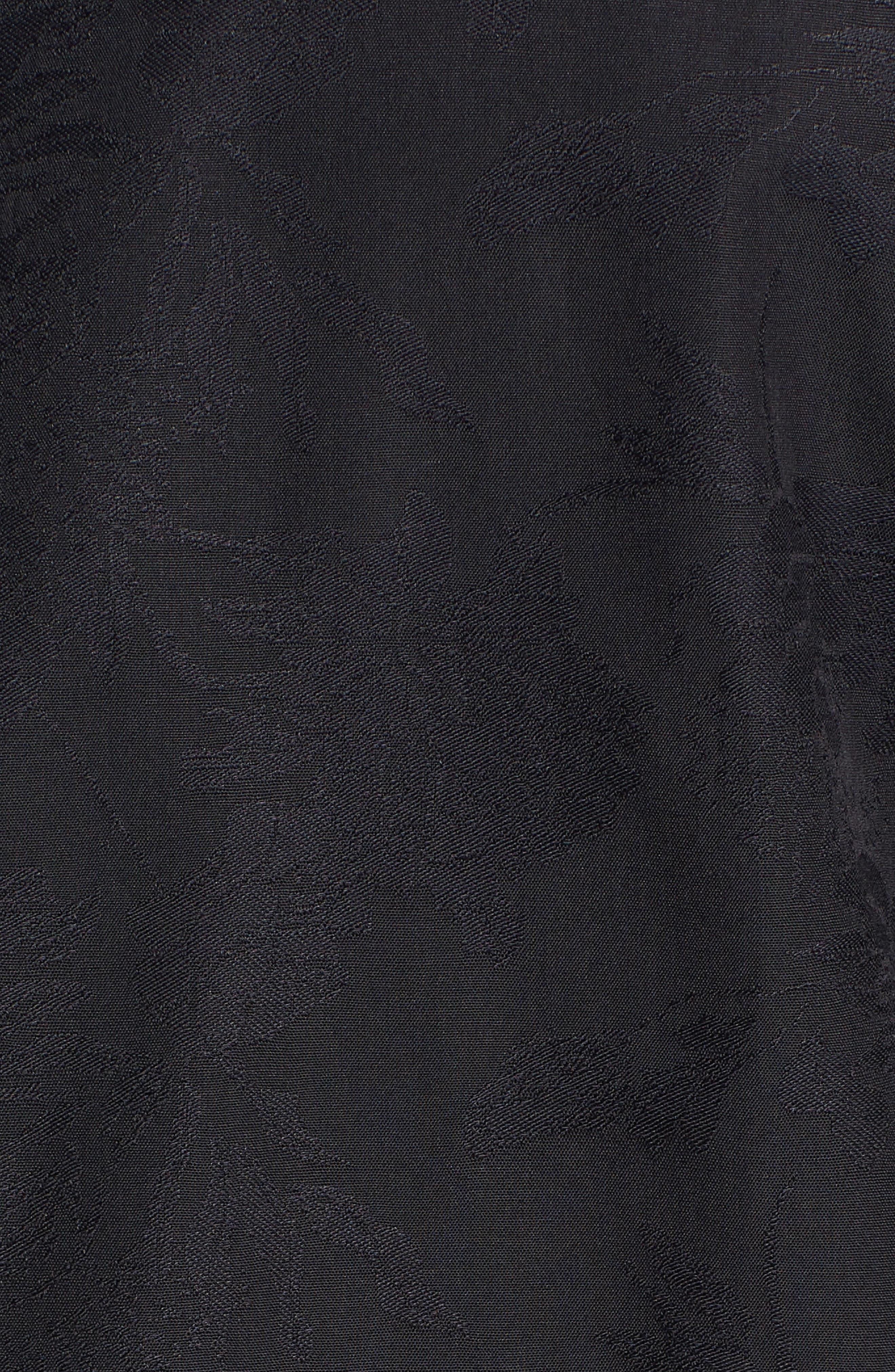 Classic Fit Tonal Jacquard Sport Shirt,                             Alternate thumbnail 5, color,                             BLACK