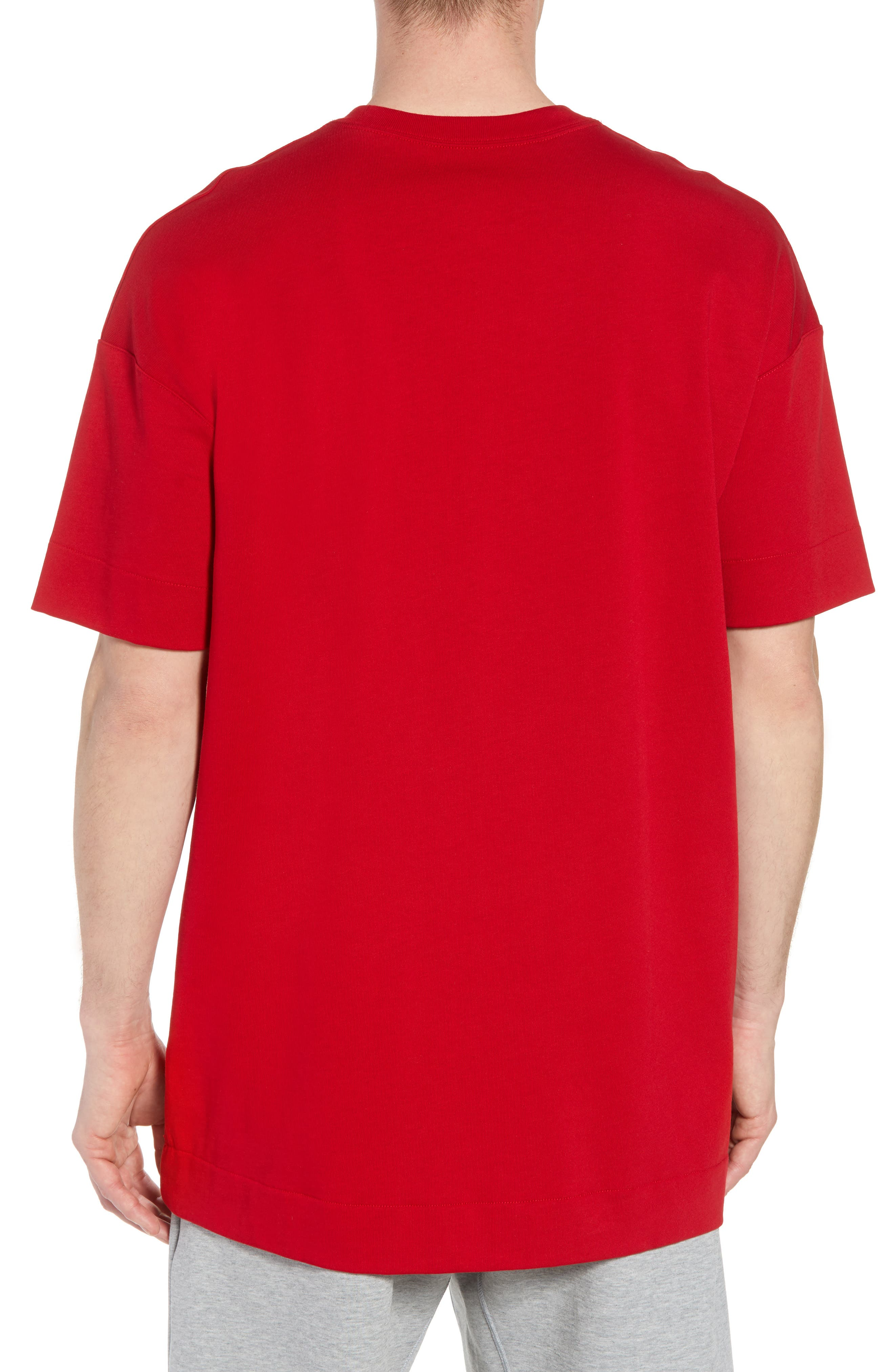 Nike Oversize 23 Graphic T-Shirt,                             Alternate thumbnail 2, color,                             GYM RED/ WHITE