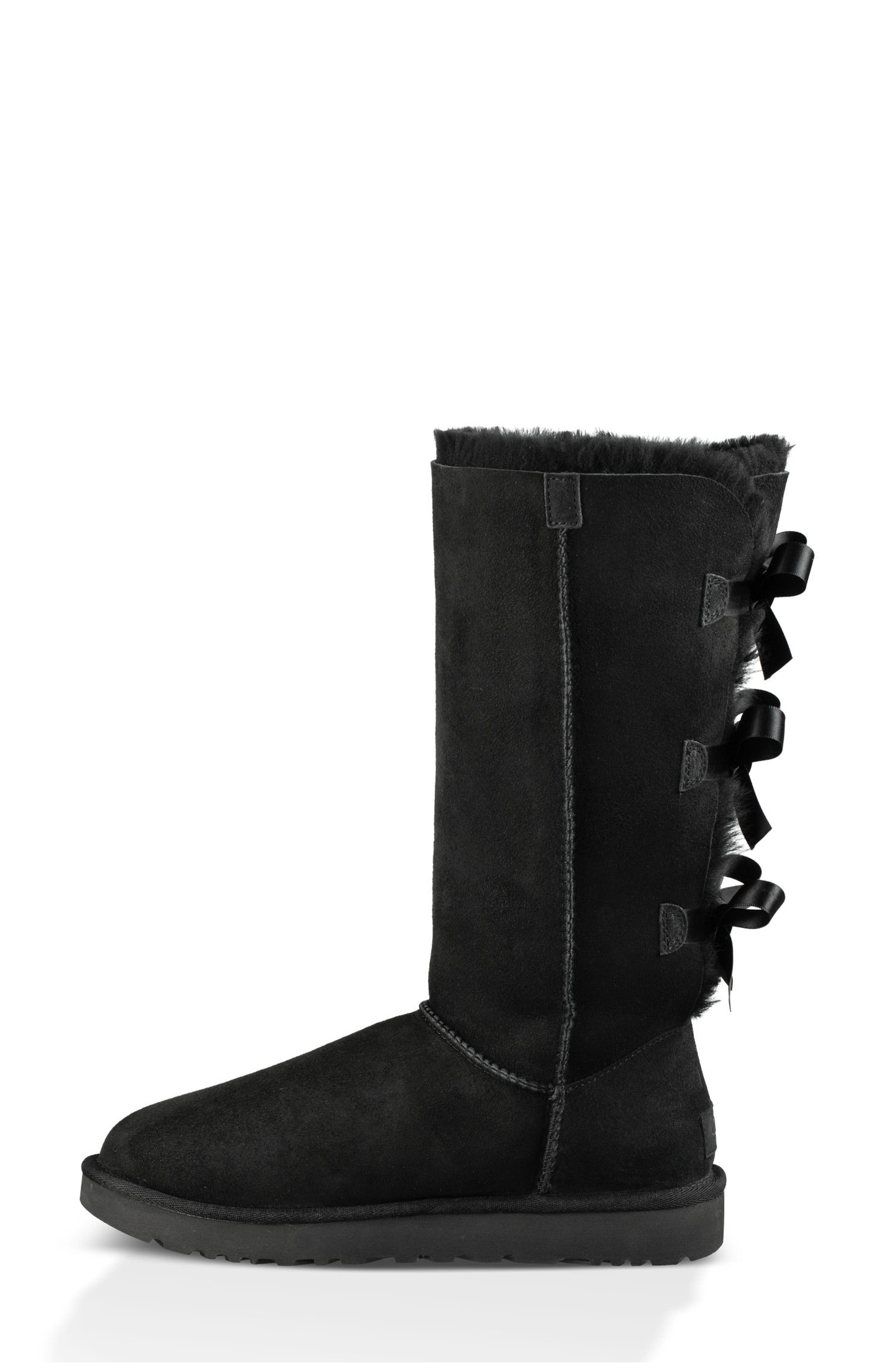 UGG<SUP>®</SUP>,                             Bailey Bow Tall II Boot,                             Alternate thumbnail 6, color,                             BLACK SUEDE