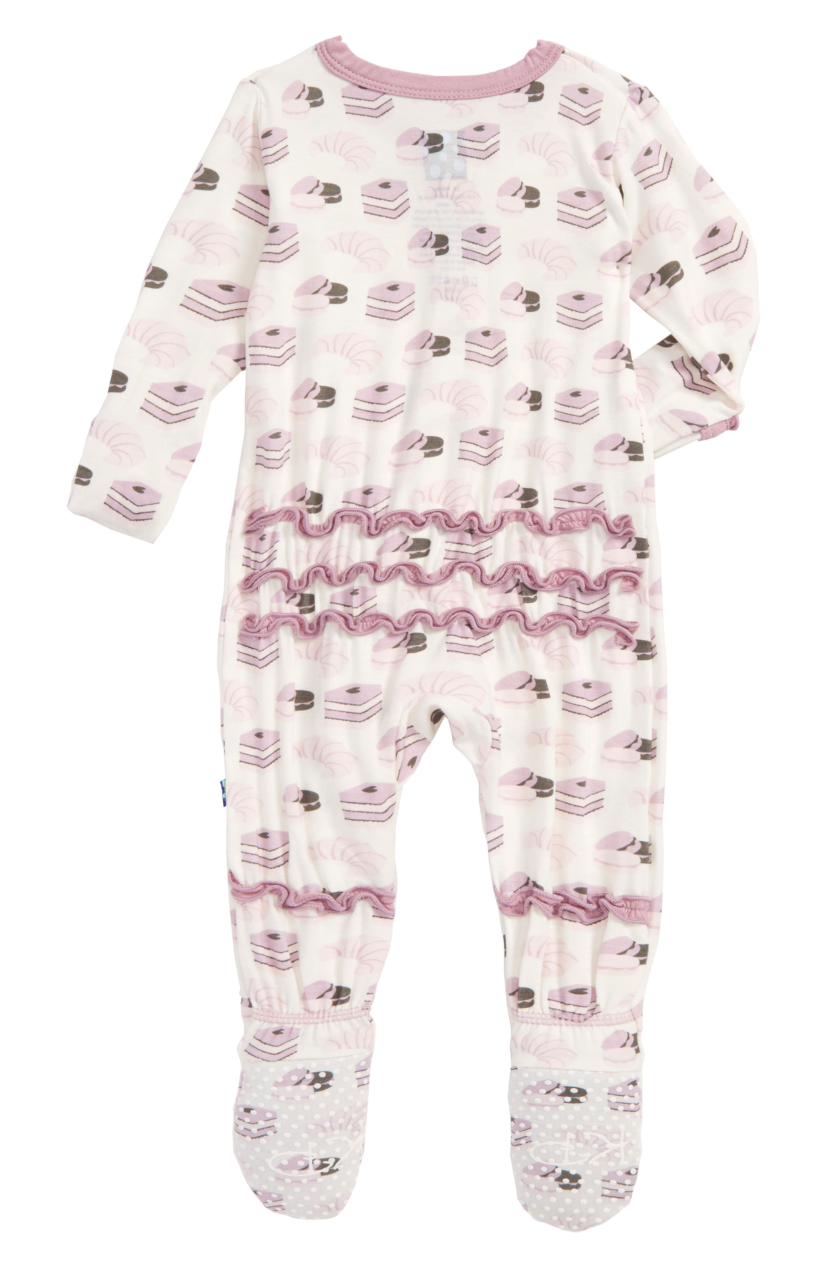 Print Fitted One-Piece Footie Pajamas,                             Alternate thumbnail 2, color,                             900