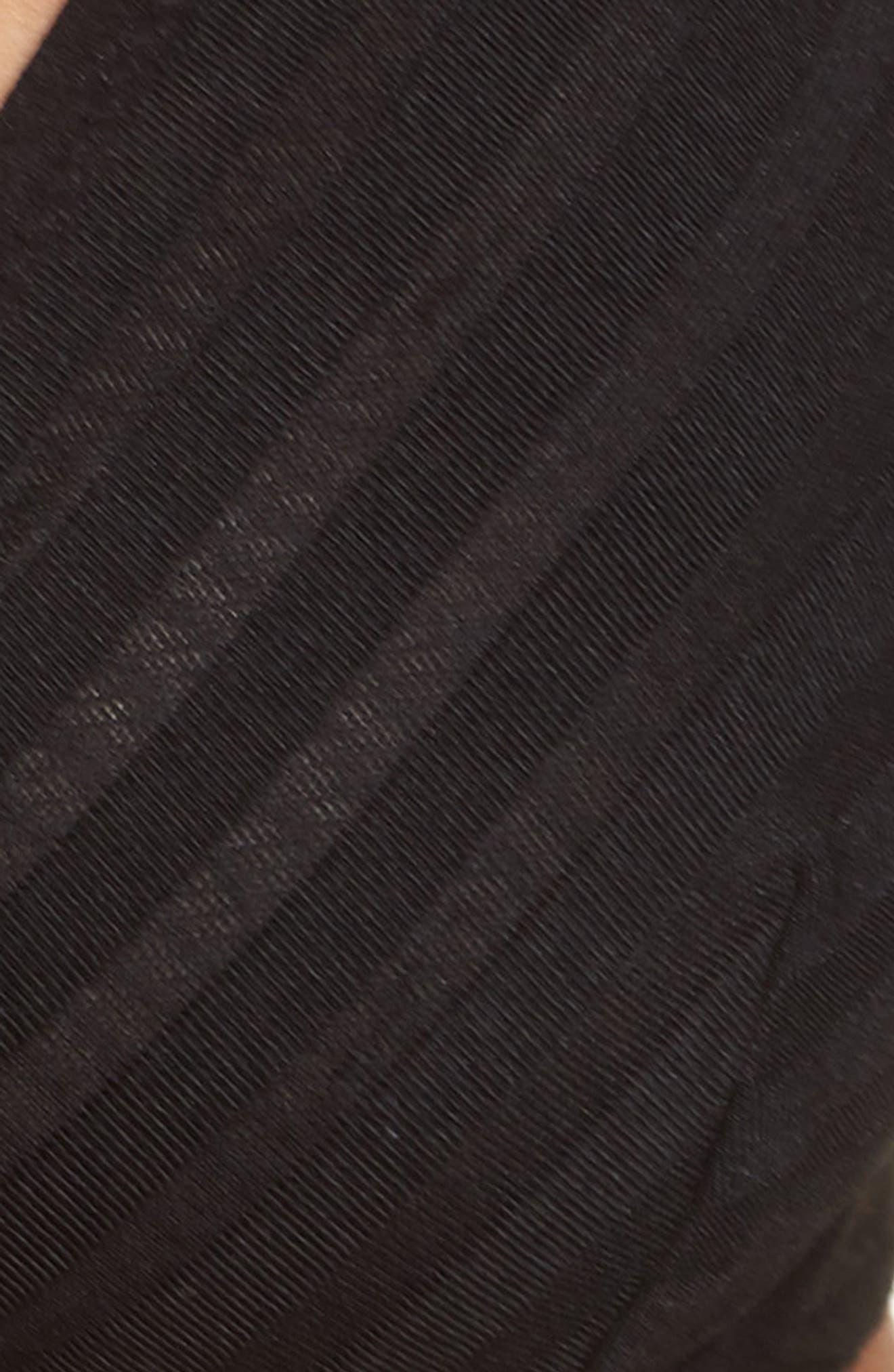 Sheer Stripe Underwire Bra,                             Alternate thumbnail 7, color,                             001