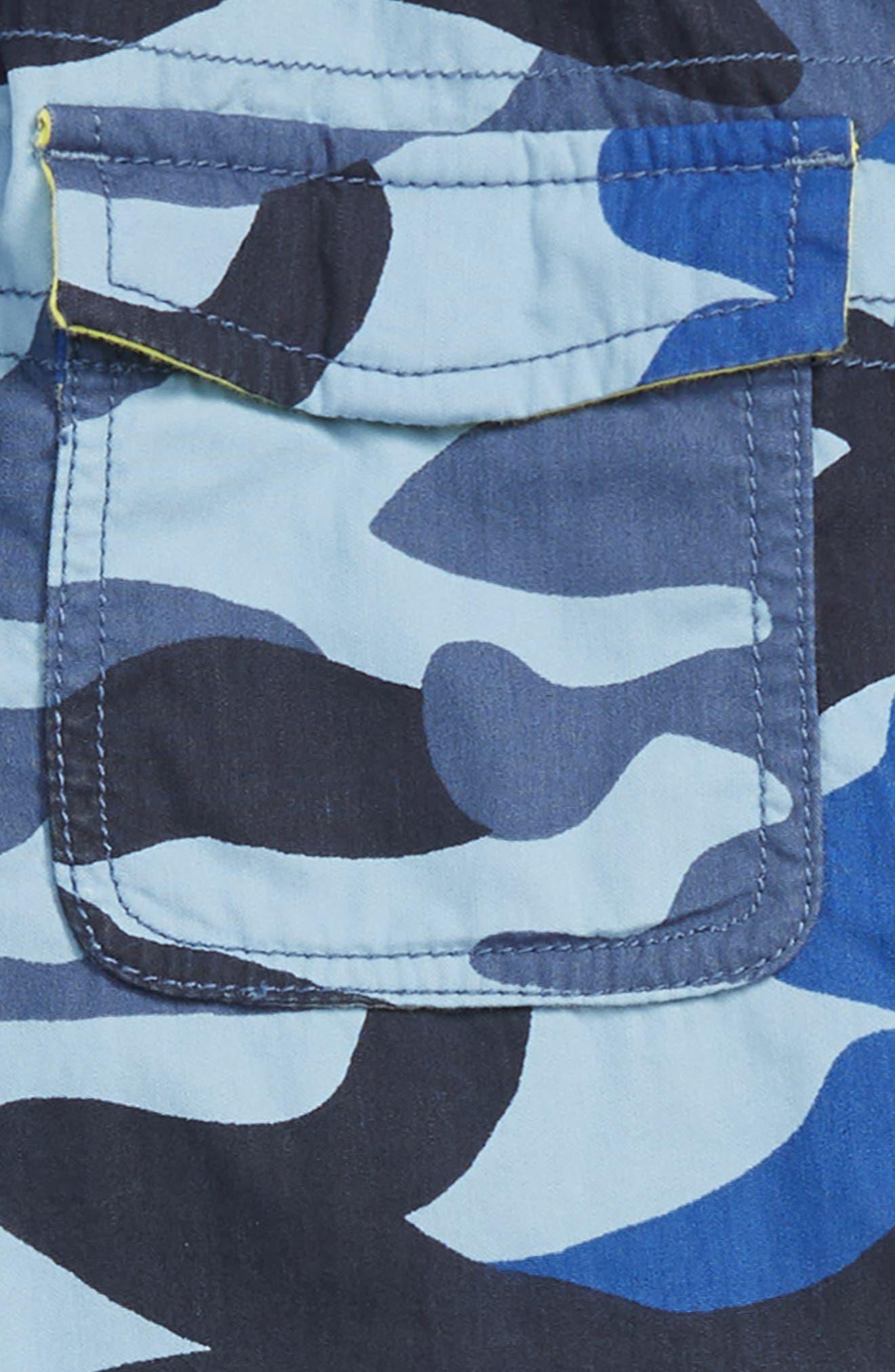 Techno Convertible Zip Off Pants,                             Alternate thumbnail 3, color,                             COLLEGE BLUE CAMO