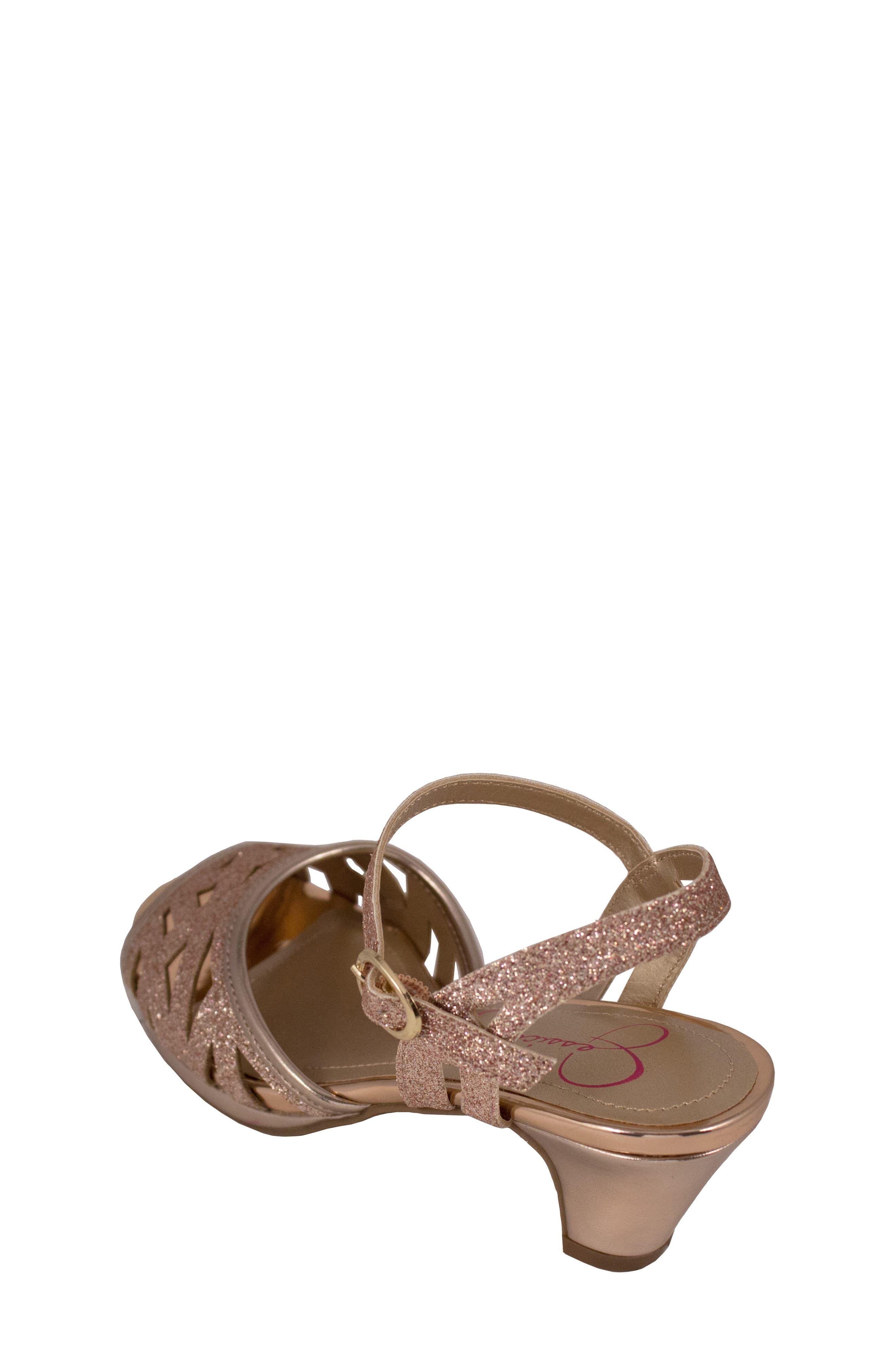 JESSICA SIMPSON,                             Glitter Sandal,                             Alternate thumbnail 2, color,                             ROSE GOLD