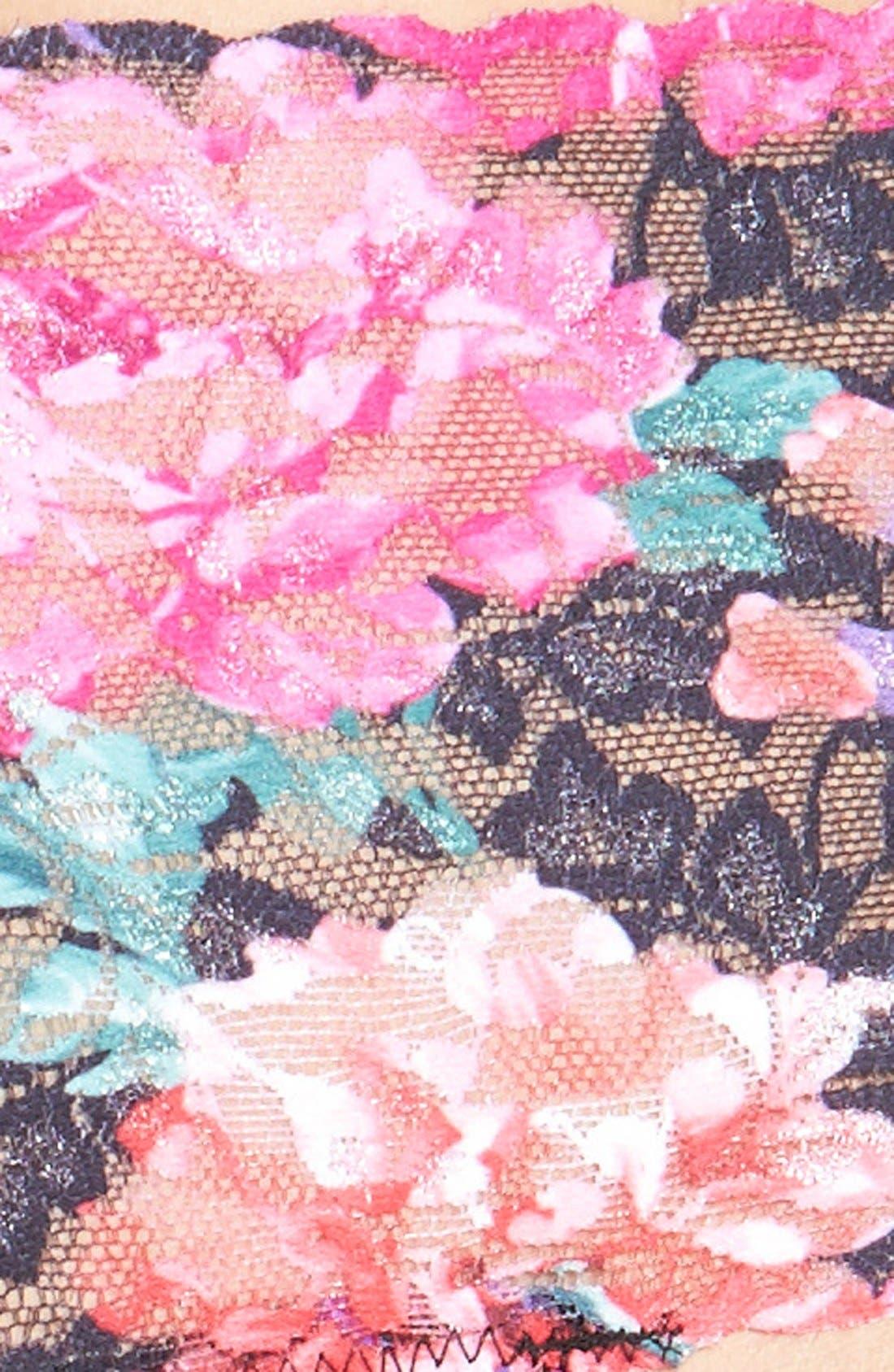 HANKY PANKY,                             'Bloom' Retro High Rise Thong,                             Alternate thumbnail 3, color,                             002