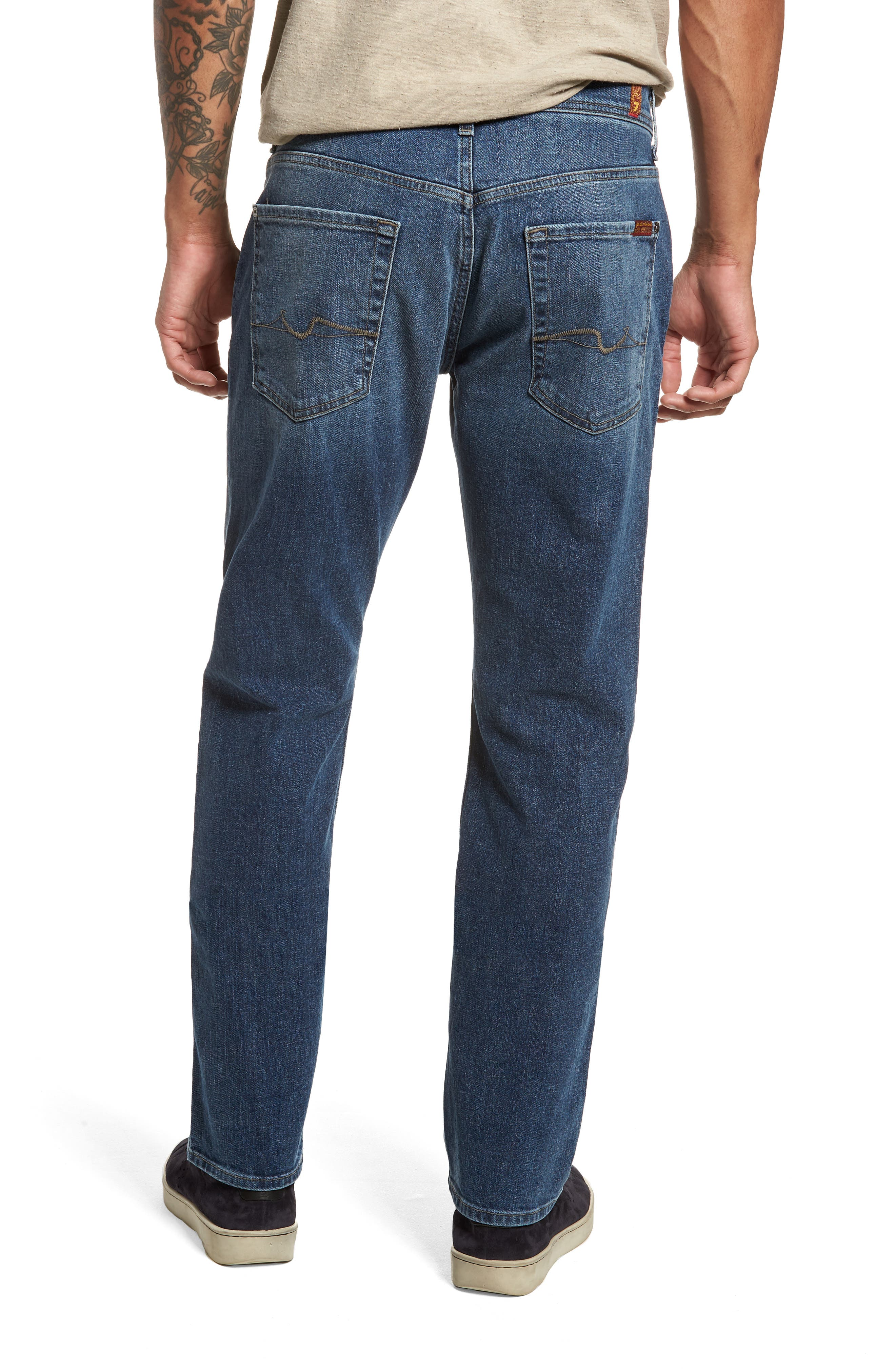 The Straight Slim Straight Fit Jeans,                             Alternate thumbnail 2, color,                             SINAI