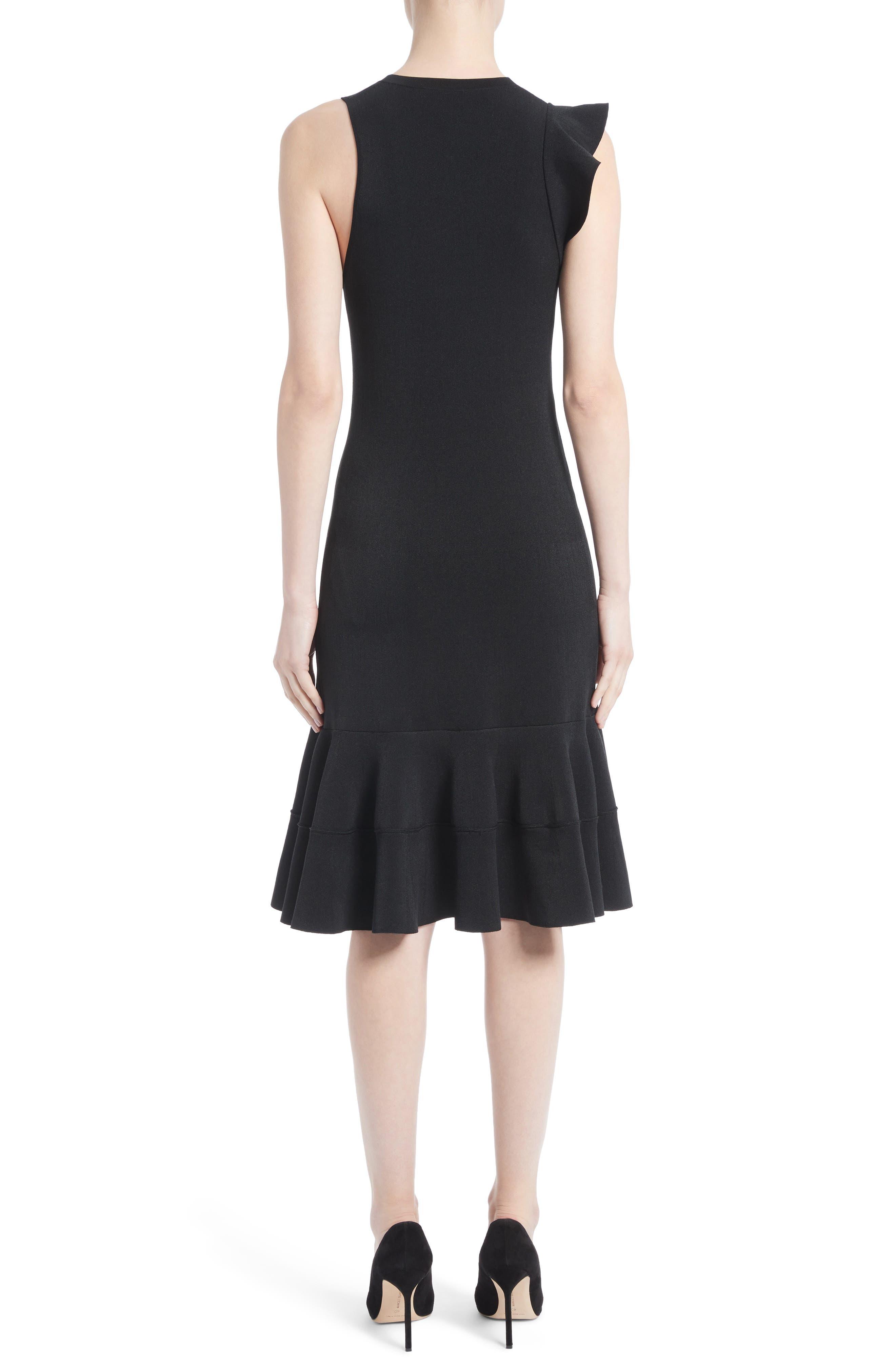 One-Shoulder Ruffle Dress,                             Alternate thumbnail 2, color,