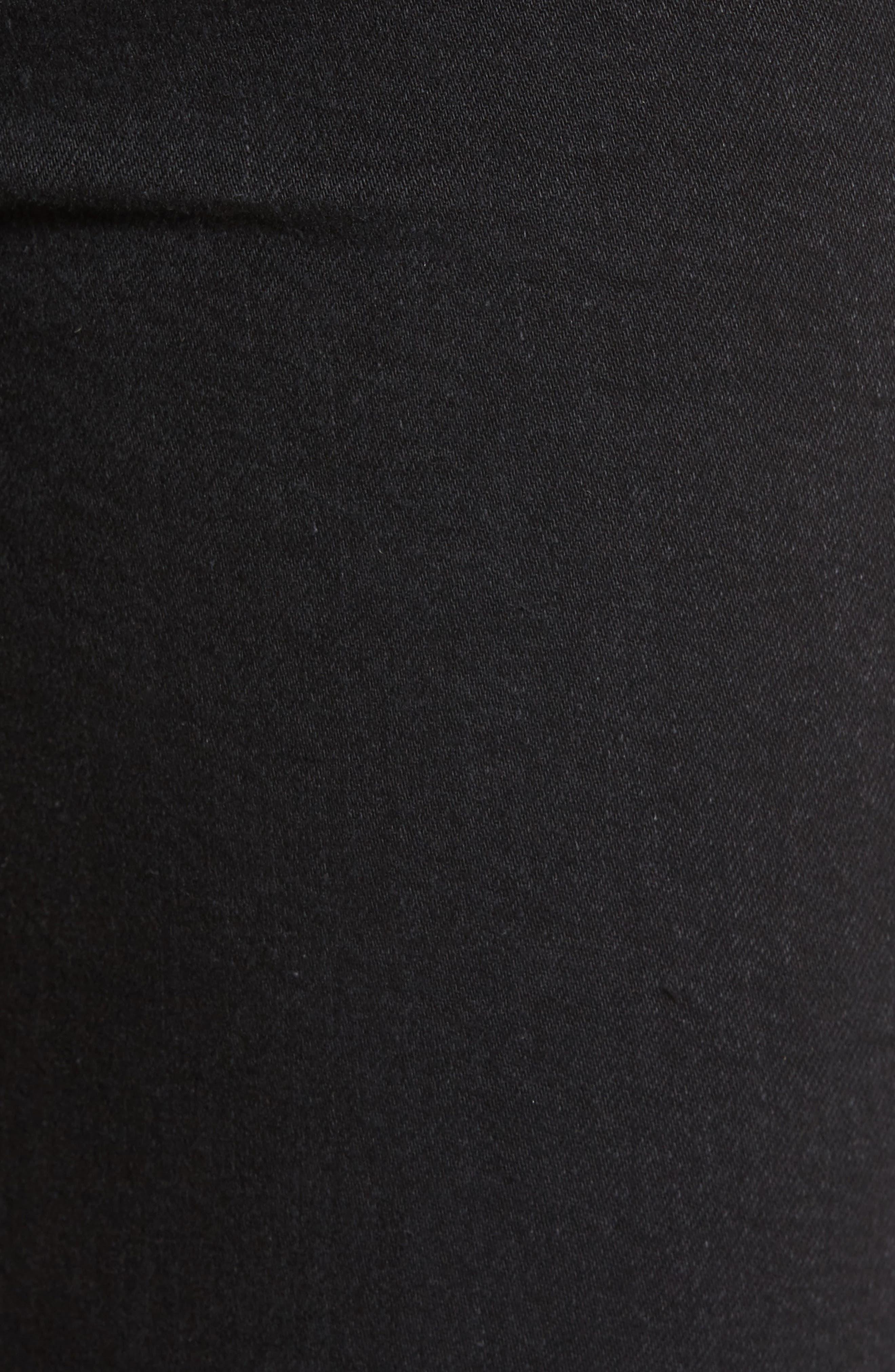Jacqueline High Waist Crop Straight Leg Jeans,                             Alternate thumbnail 5, color,                             001