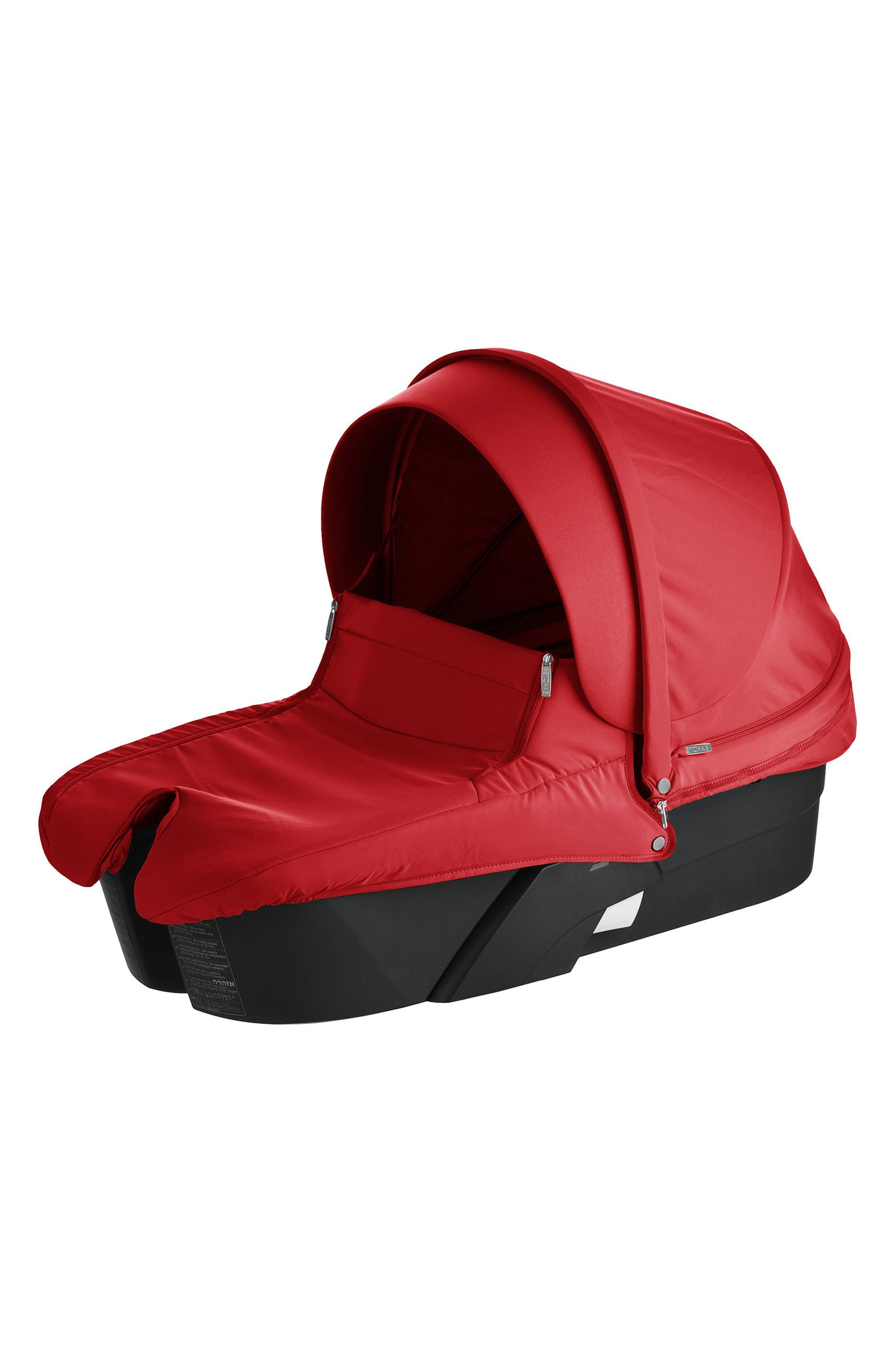 Xplory<sup>®</sup> Black Frame Stroller Carry Cot,                             Main thumbnail 1, color,                             RED