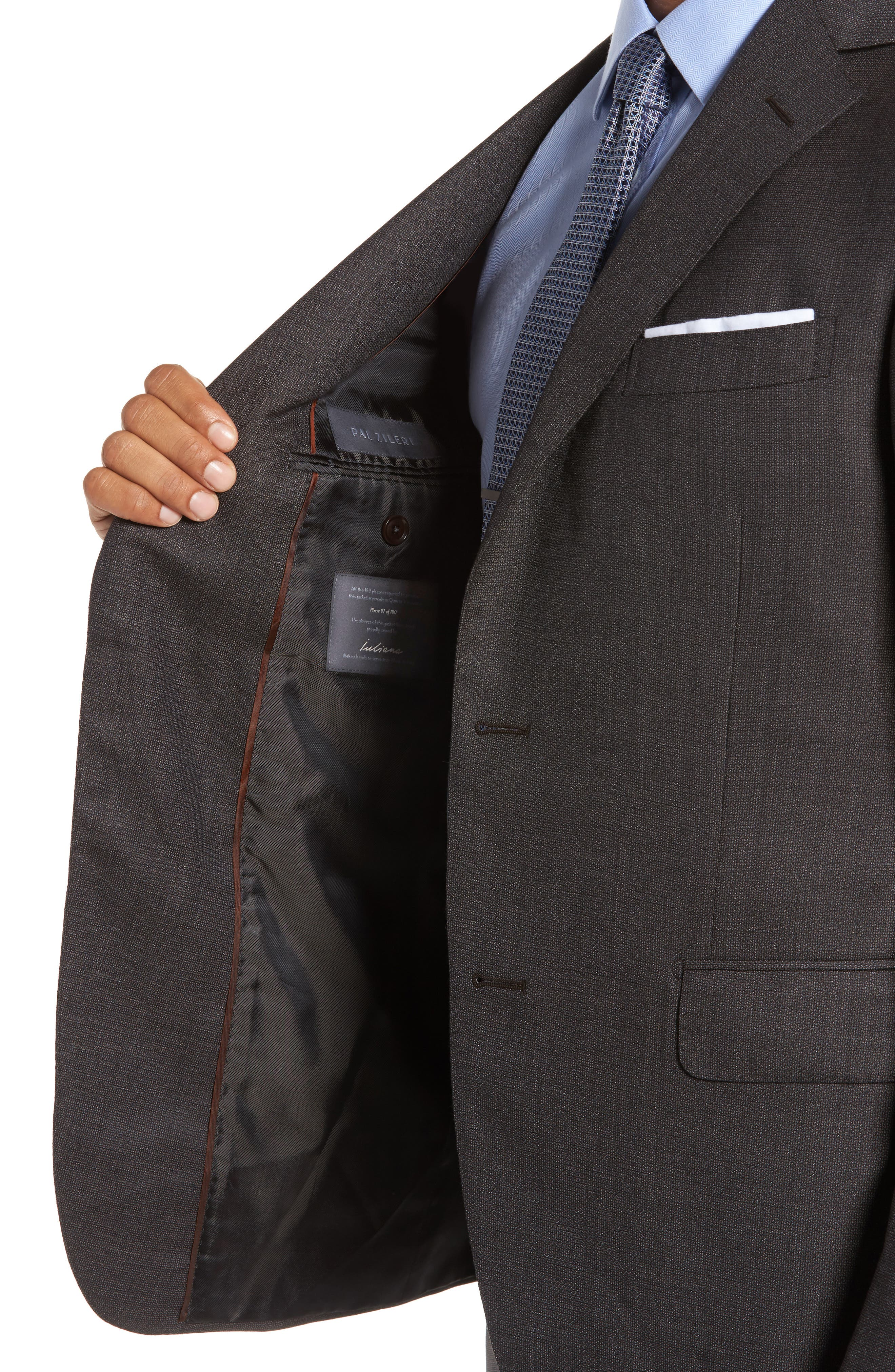 Classic Fit Micro Weave Wool Suit,                             Alternate thumbnail 4, color,                             200