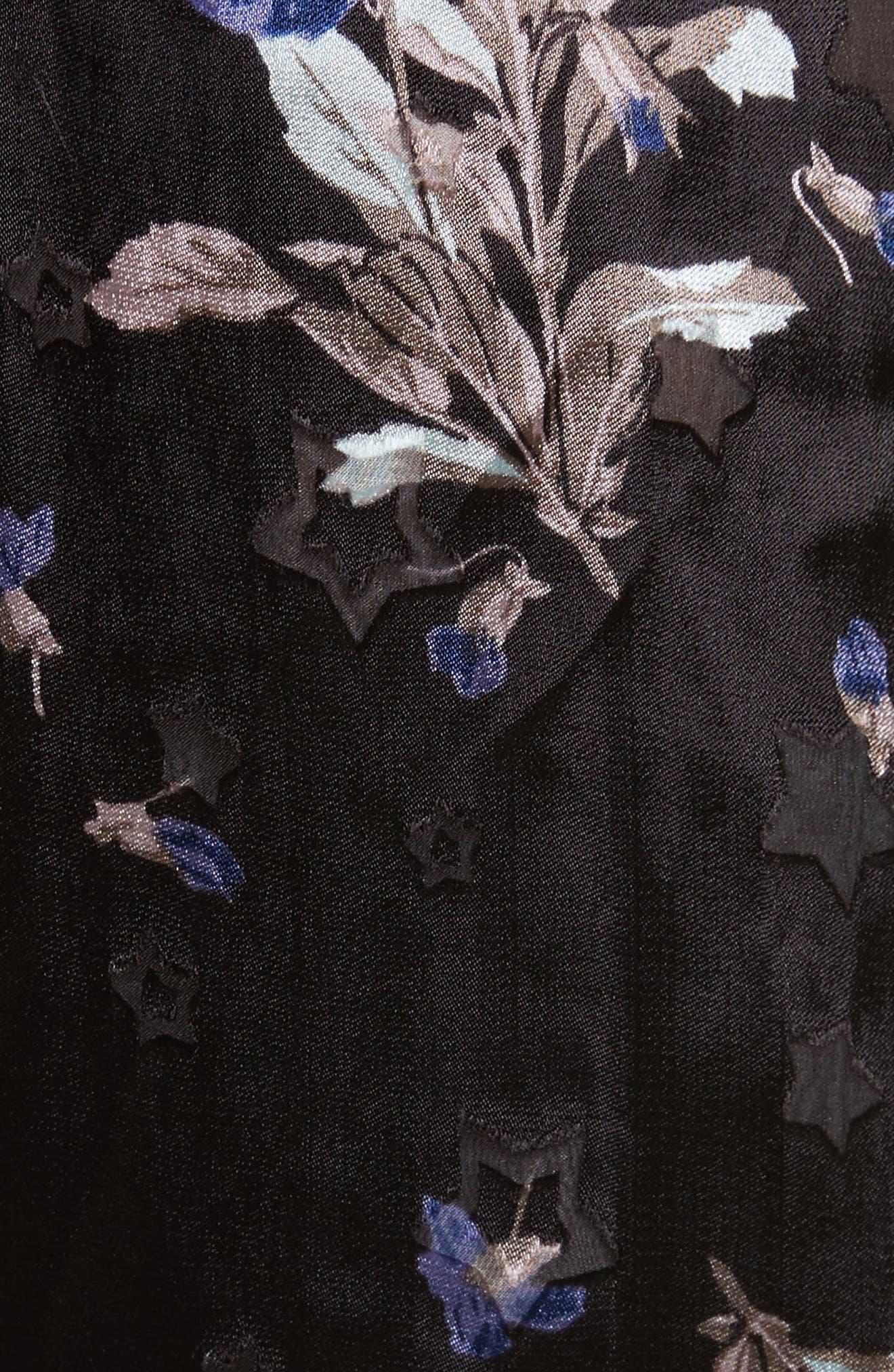 Violet Velvet Halter Dress,                             Alternate thumbnail 5, color,