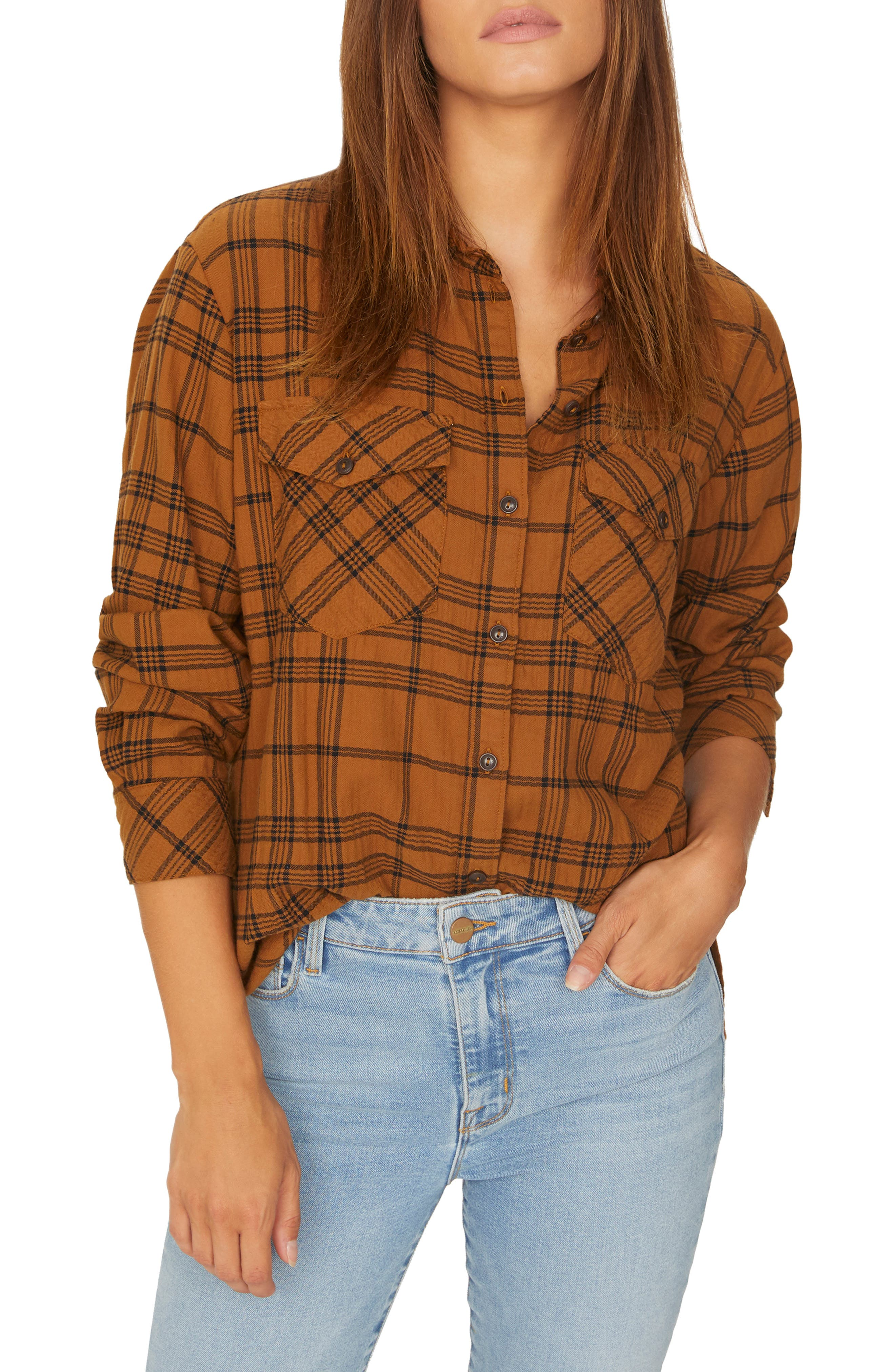 Boyfriend for Life Plaid Shirt,                         Main,                         color, AUTUMN PLAID