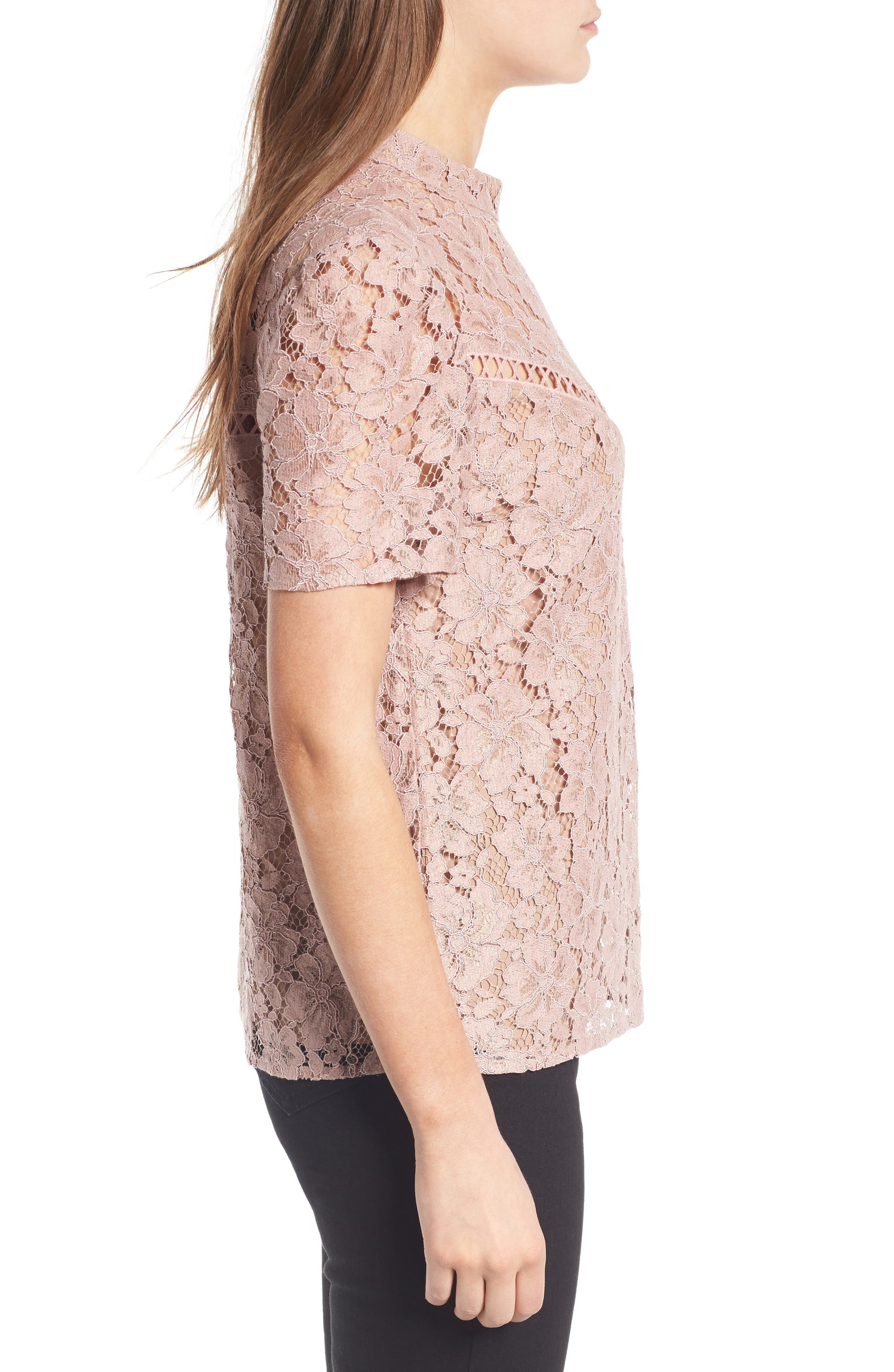 Greyson Lace Top,                             Alternate thumbnail 3, color,                             650