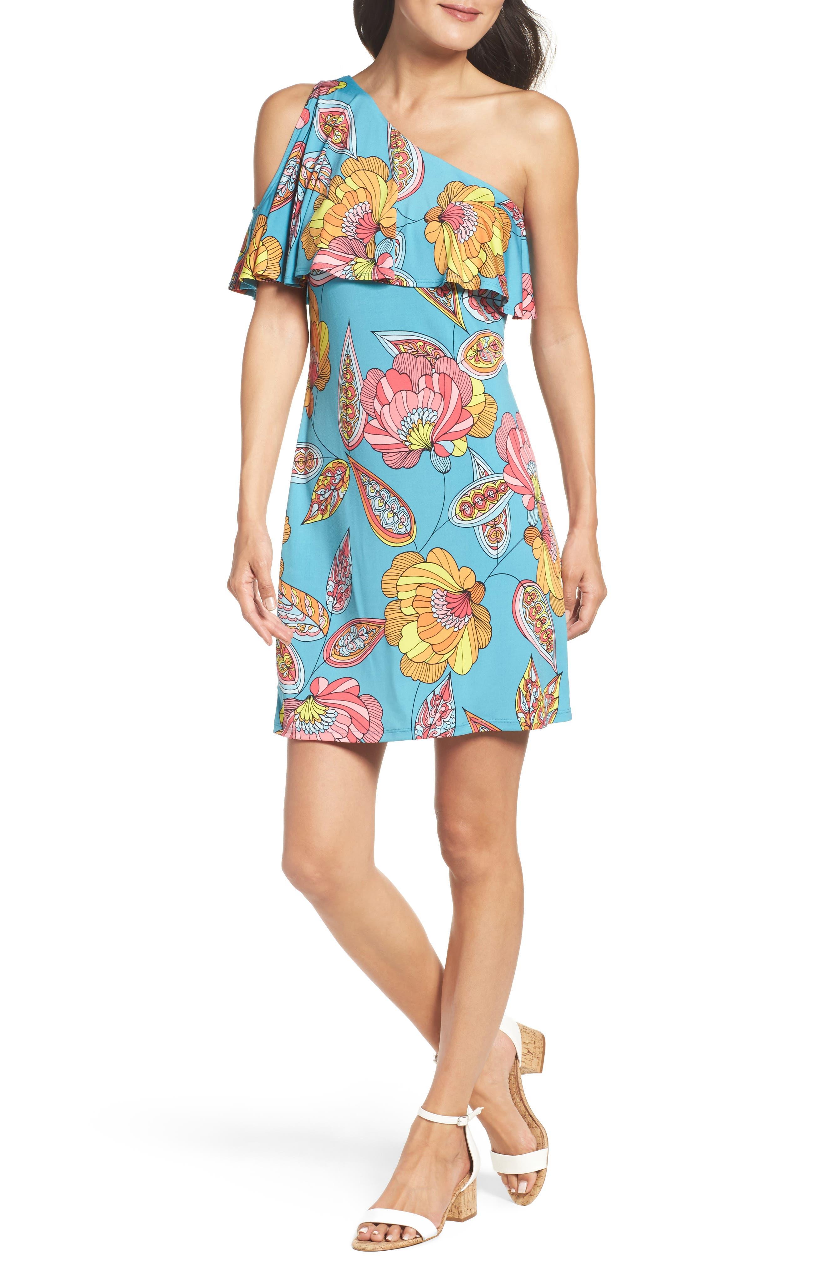 Regal Asymmetrical One-Shoulder Dress,                         Main,                         color, 463