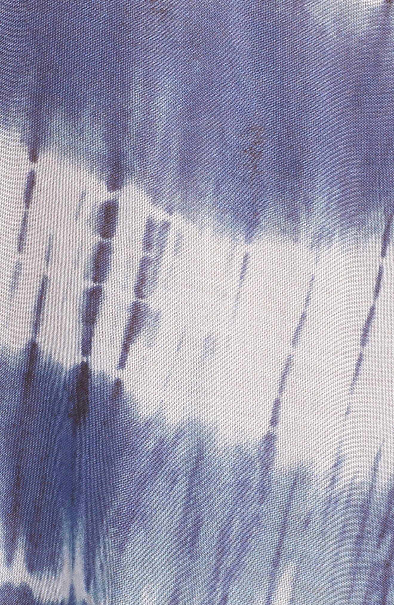 Stripe Tassel Cover-Up Poncho,                             Alternate thumbnail 5, color,                             411
