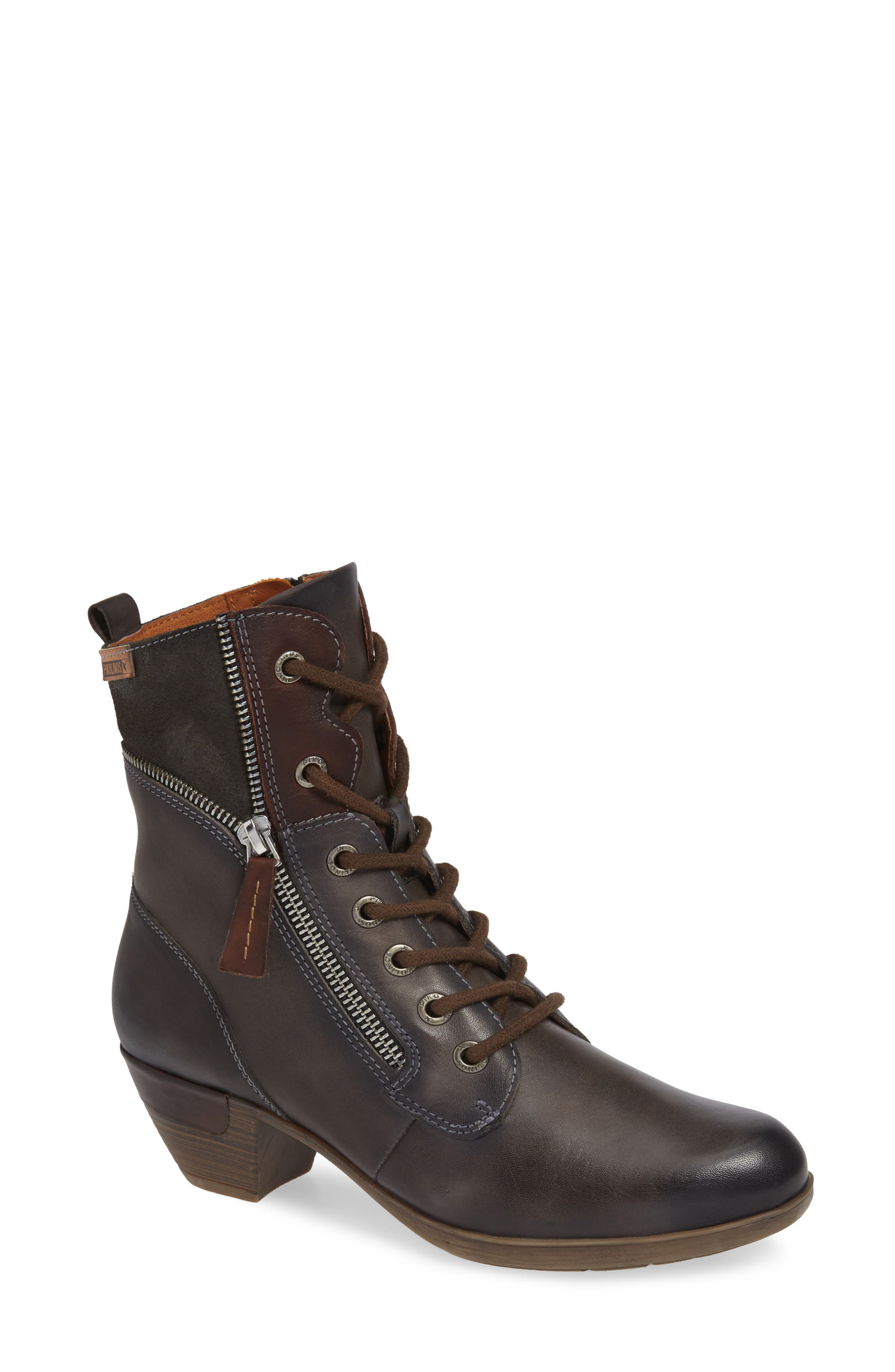 Rotterdam Bootie,                             Main thumbnail 1, color,                             LEAD LEATHER