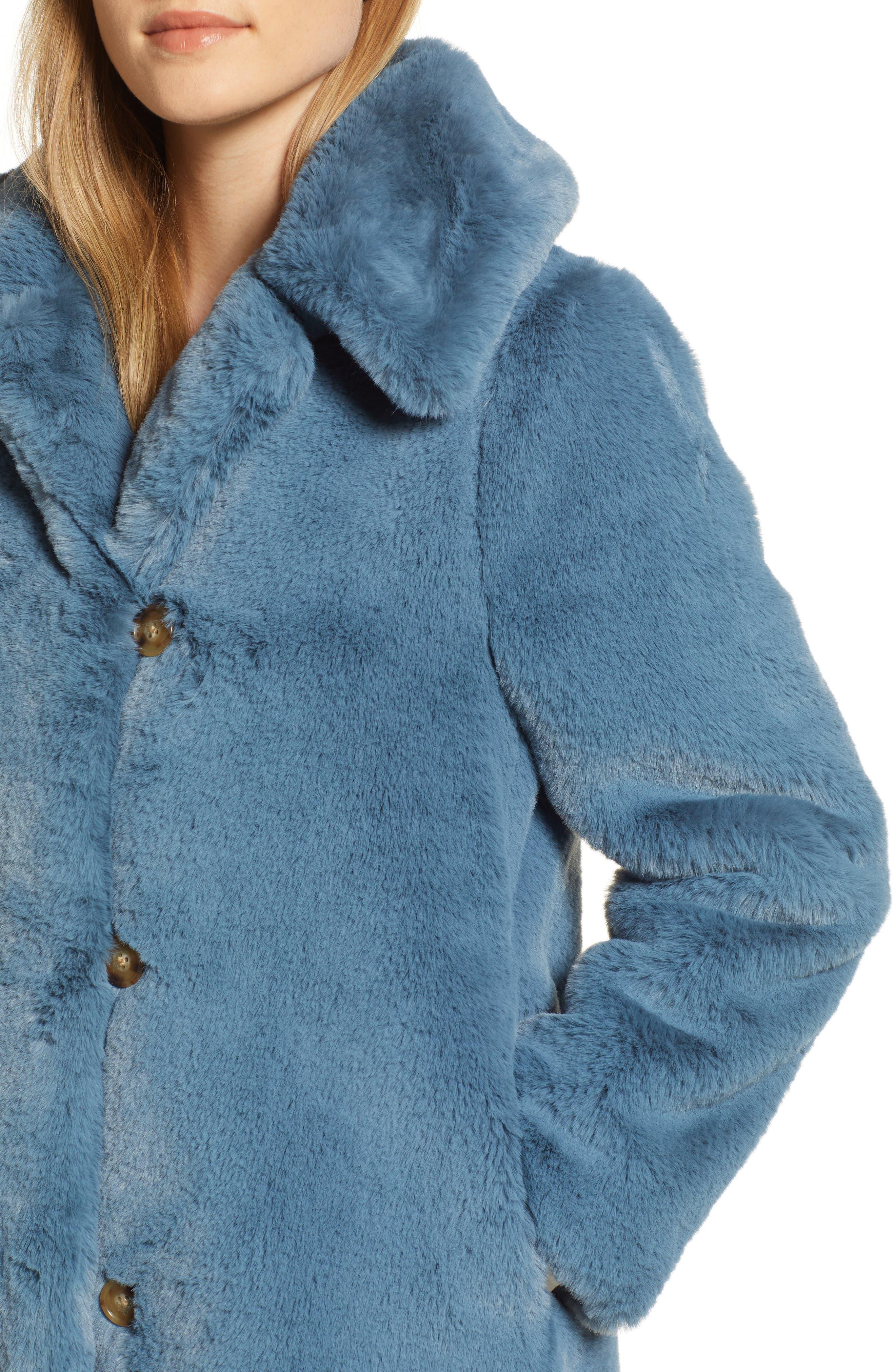 Faux Fur Coat,                             Alternate thumbnail 4, color,                             250