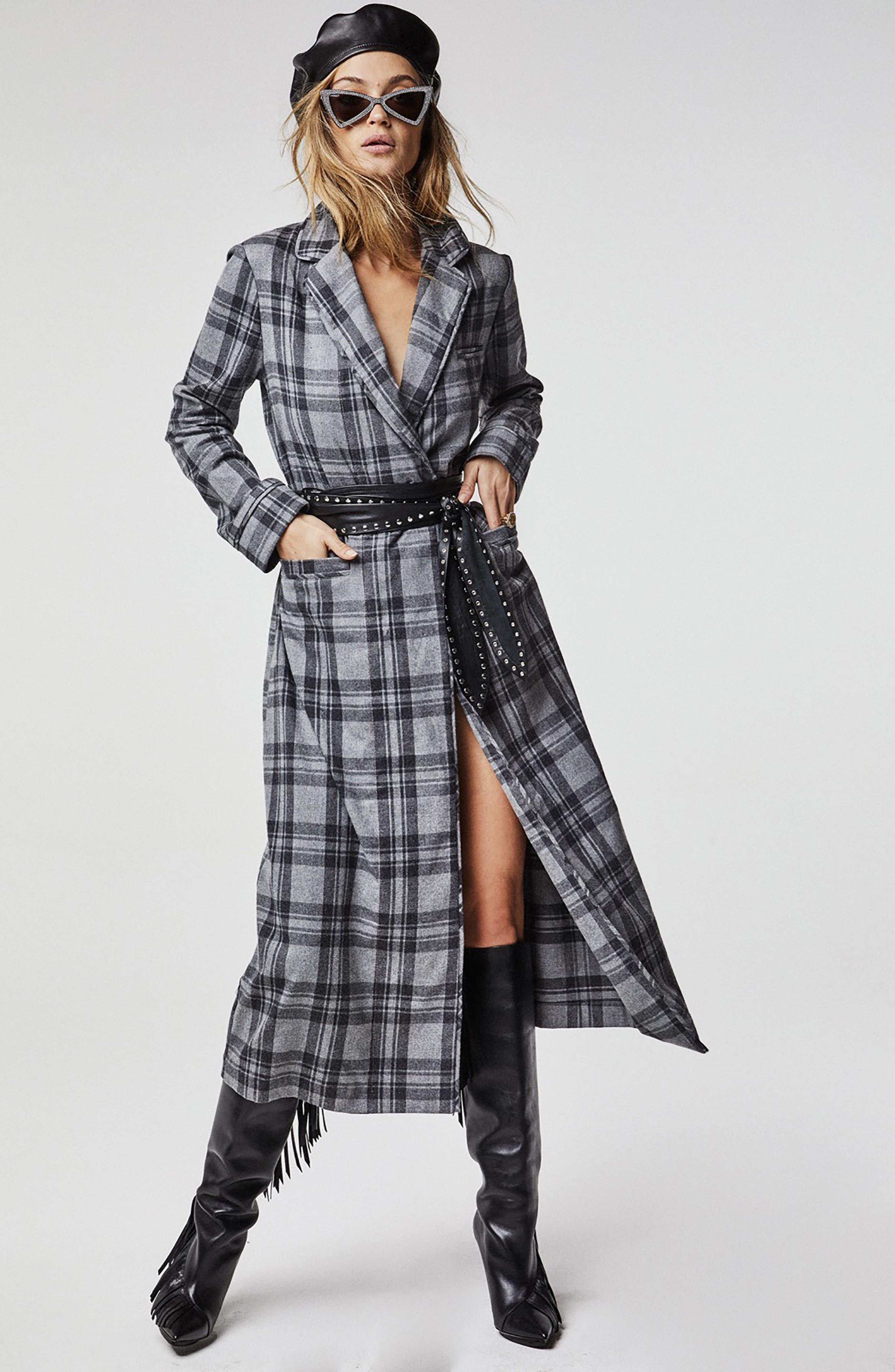 Sol Flannel Wrap Coat,                             Alternate thumbnail 6, color,