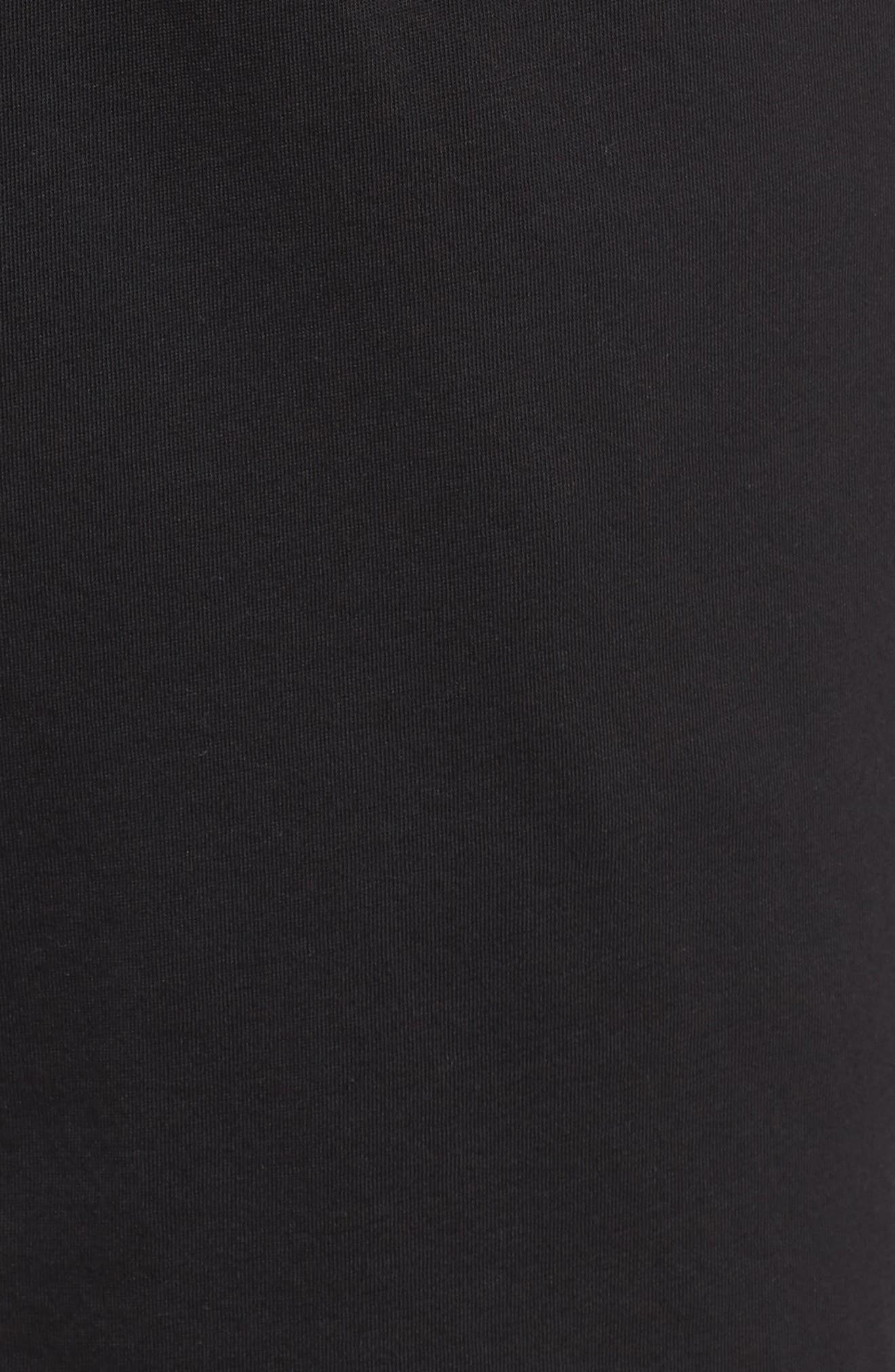 Peruvian Pima Cotton Shorts,                             Alternate thumbnail 5, color,                             BLACK