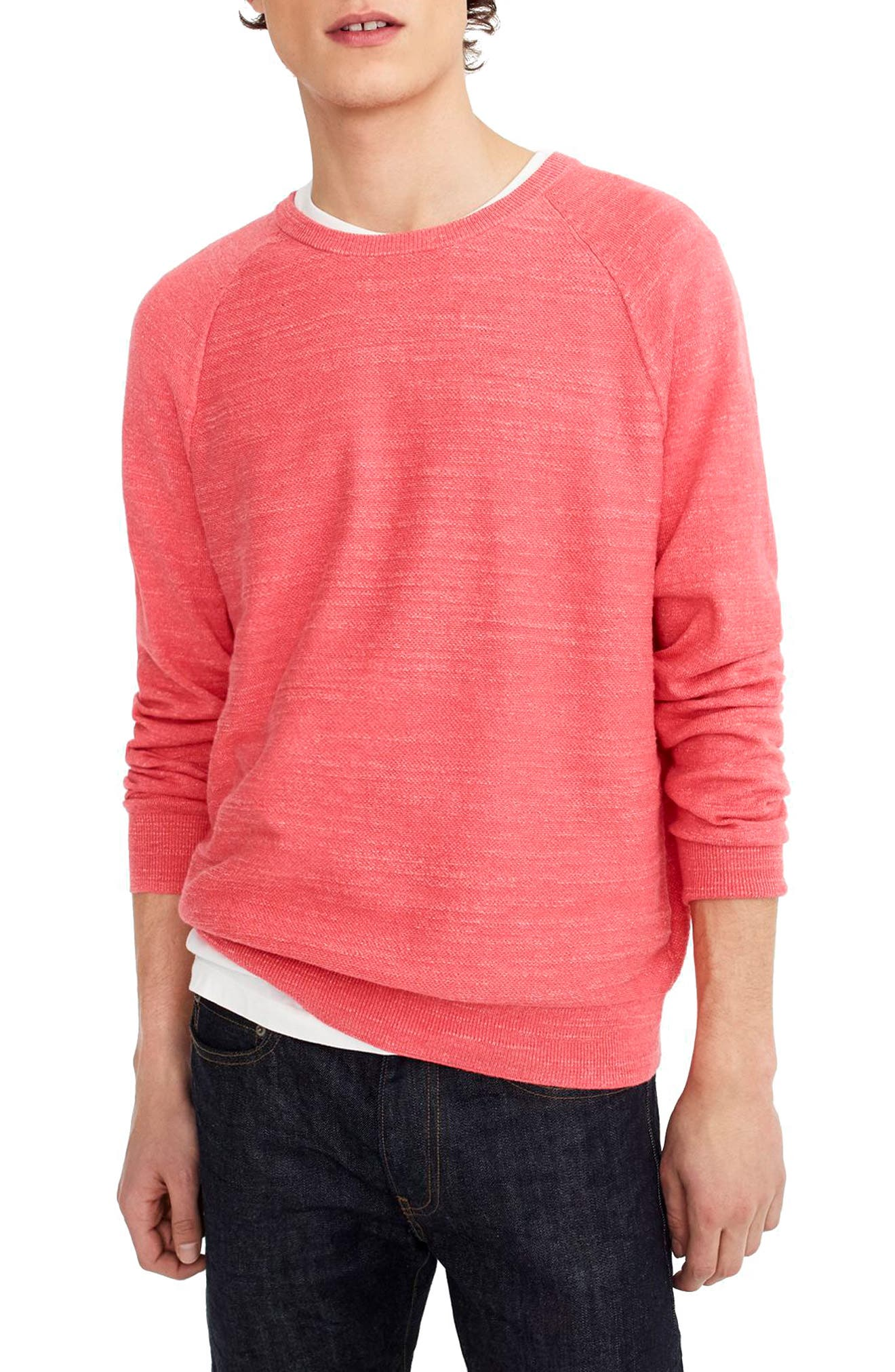Slim Rugged Cotton Sweater,                             Main thumbnail 5, color,