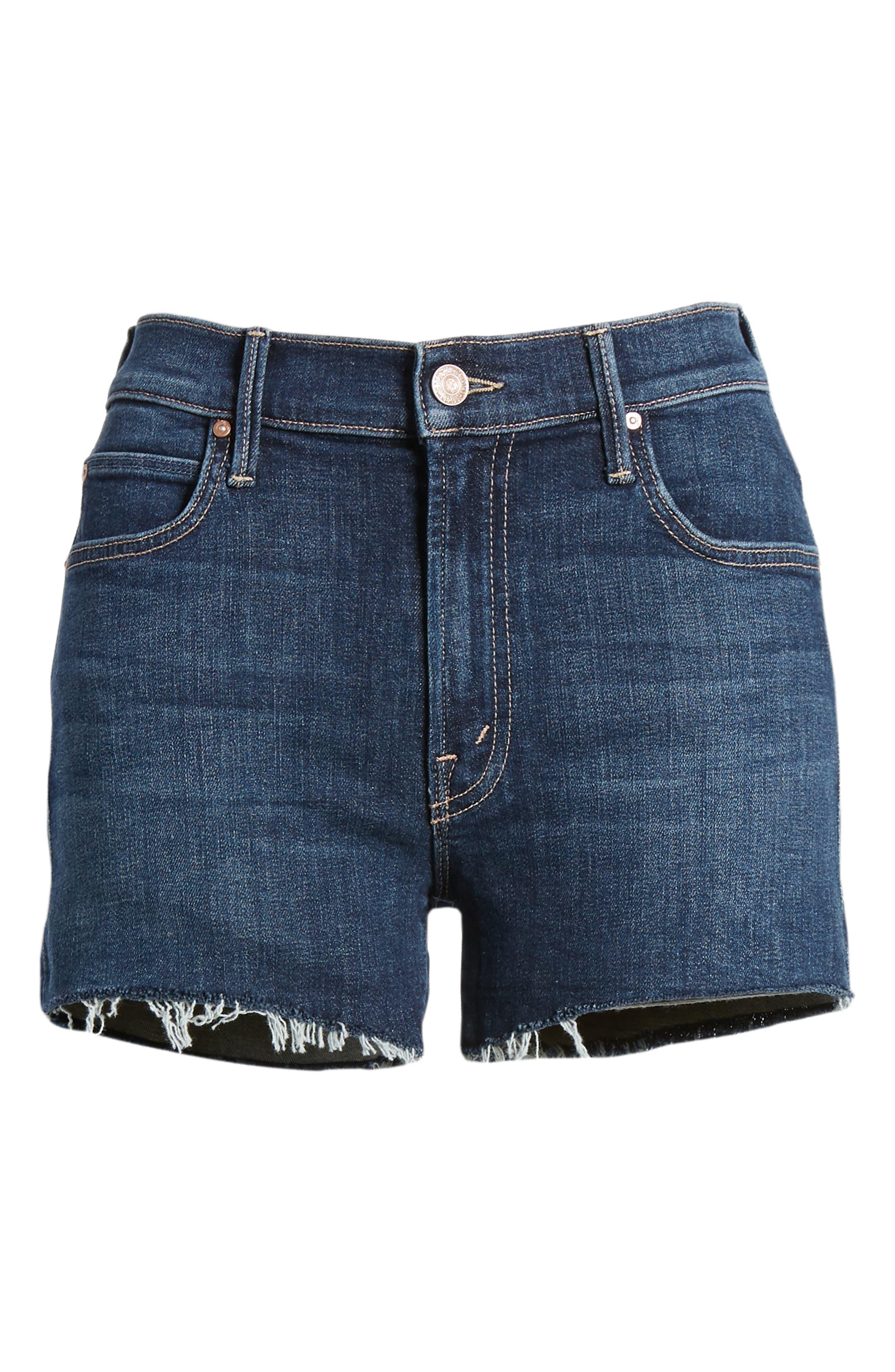 The Charmer Fray Denim Shorts,                             Alternate thumbnail 7, color,                             417