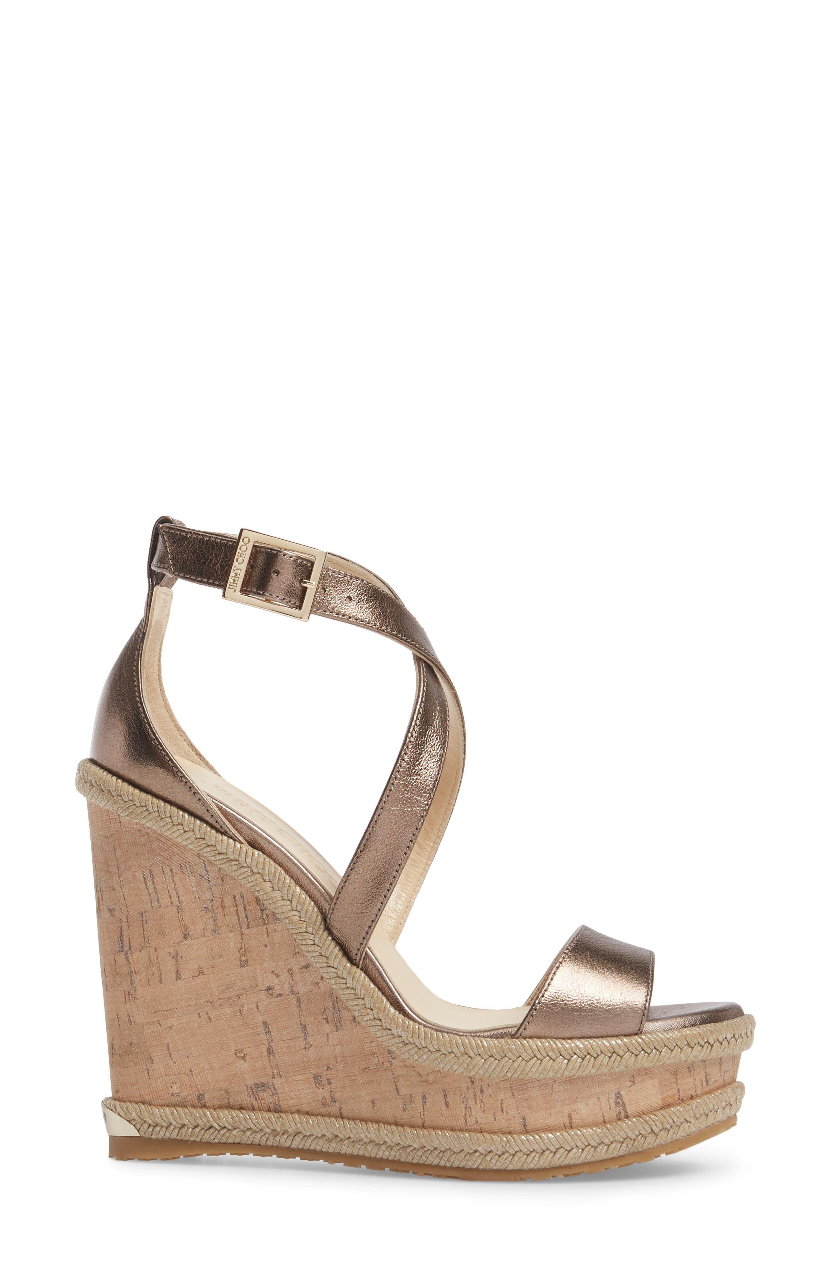 Portia Wedge Platform Sandal,                             Alternate thumbnail 3, color,                             710