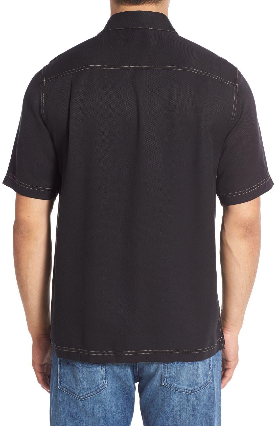 'Honeycomb' Regular Fit Short Sleeve Textured Sport Shirt,                             Alternate thumbnail 14, color,