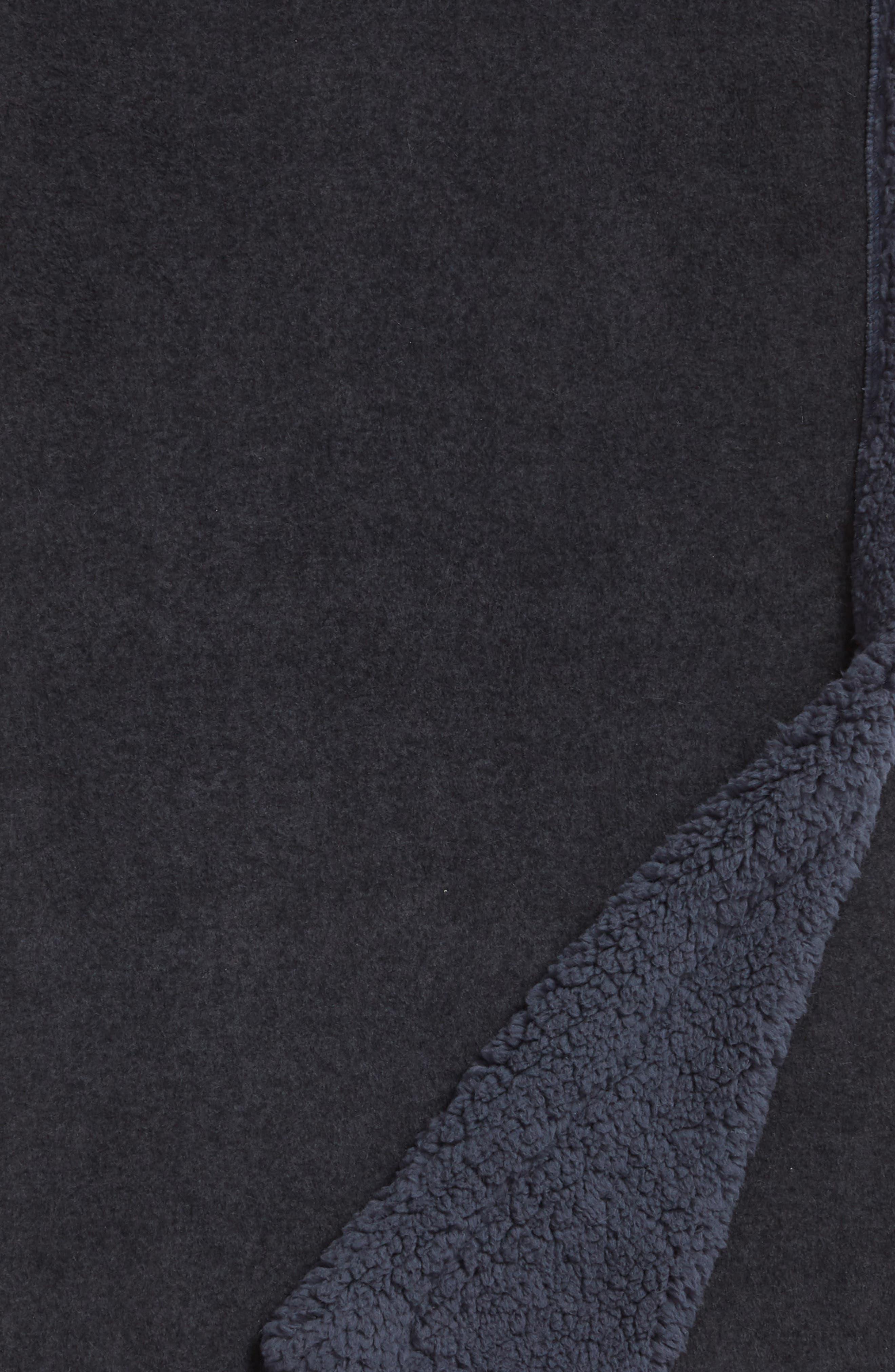 Fleece Throw,                             Alternate thumbnail 2, color,                             NAVY BLUE