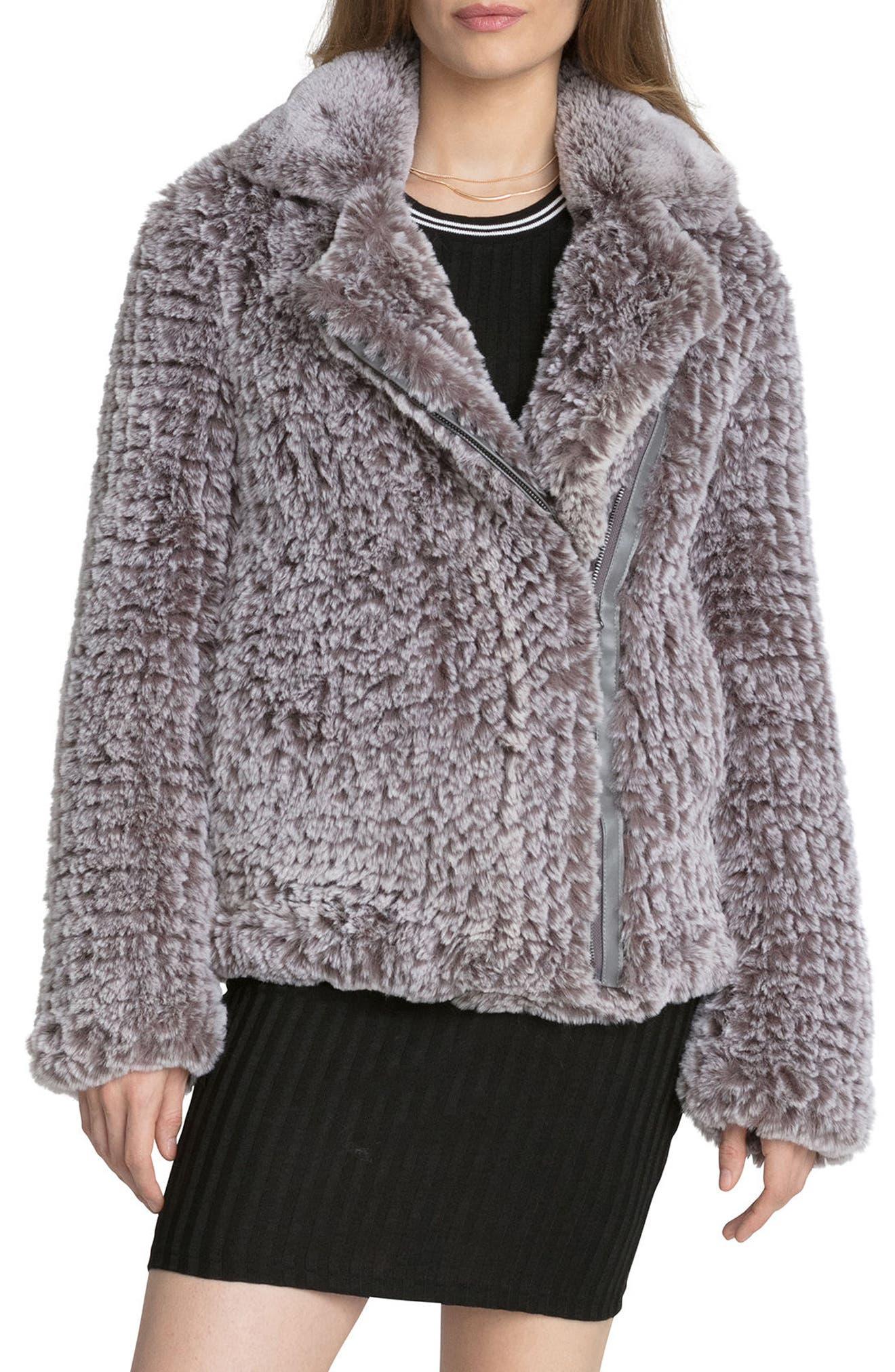 Faux Fur Jacket,                             Main thumbnail 1, color,                             022