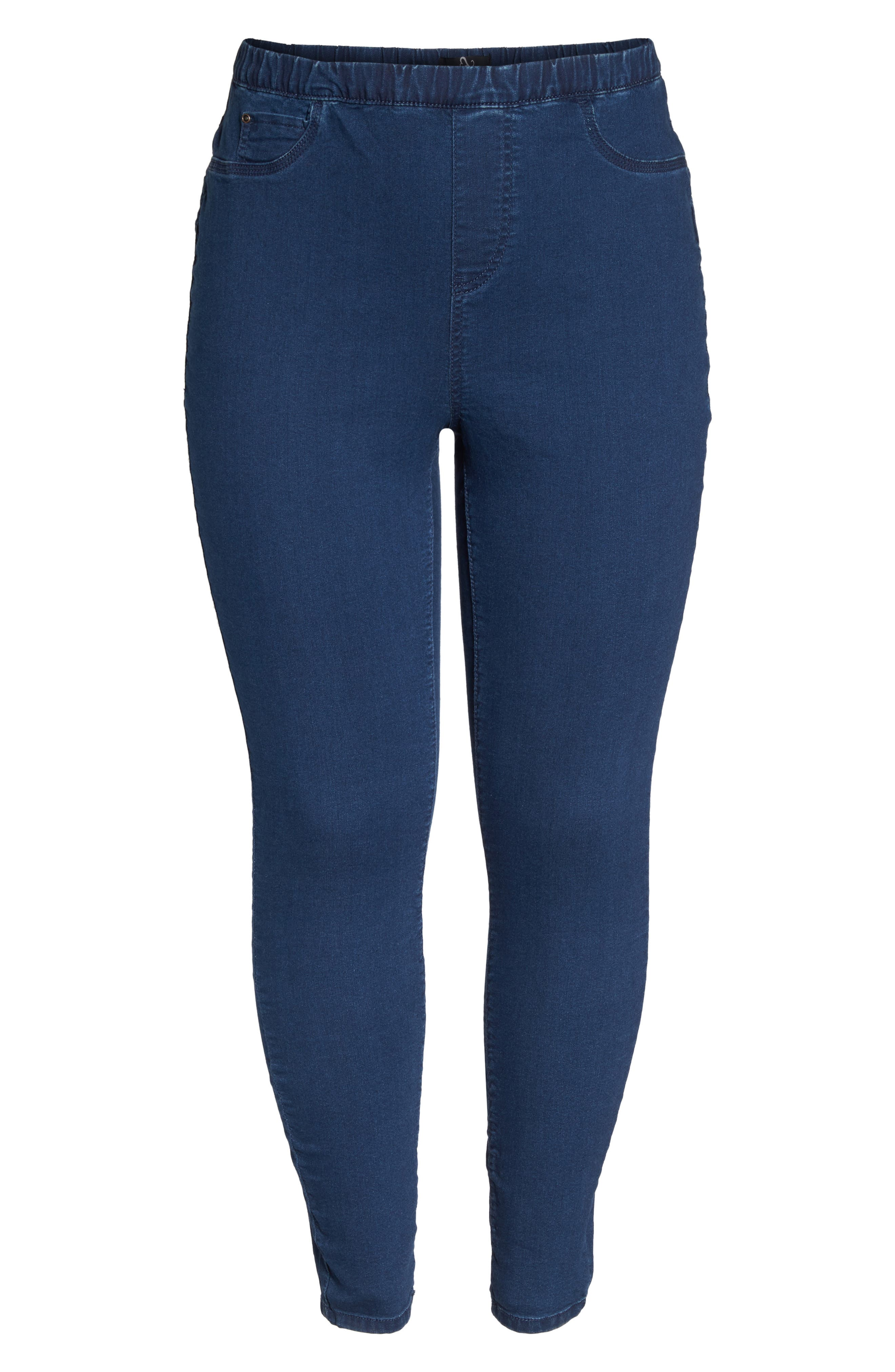 Denim Leggings,                             Alternate thumbnail 6, color,