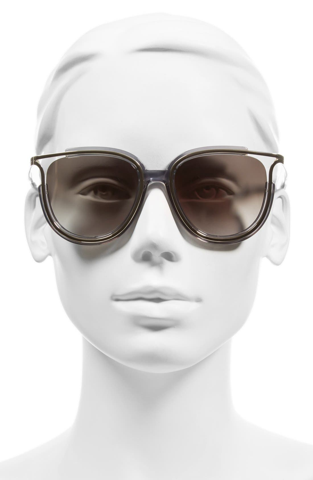 'Jayme' 54mm Retro Sunglasses,                             Alternate thumbnail 2, color,                             020