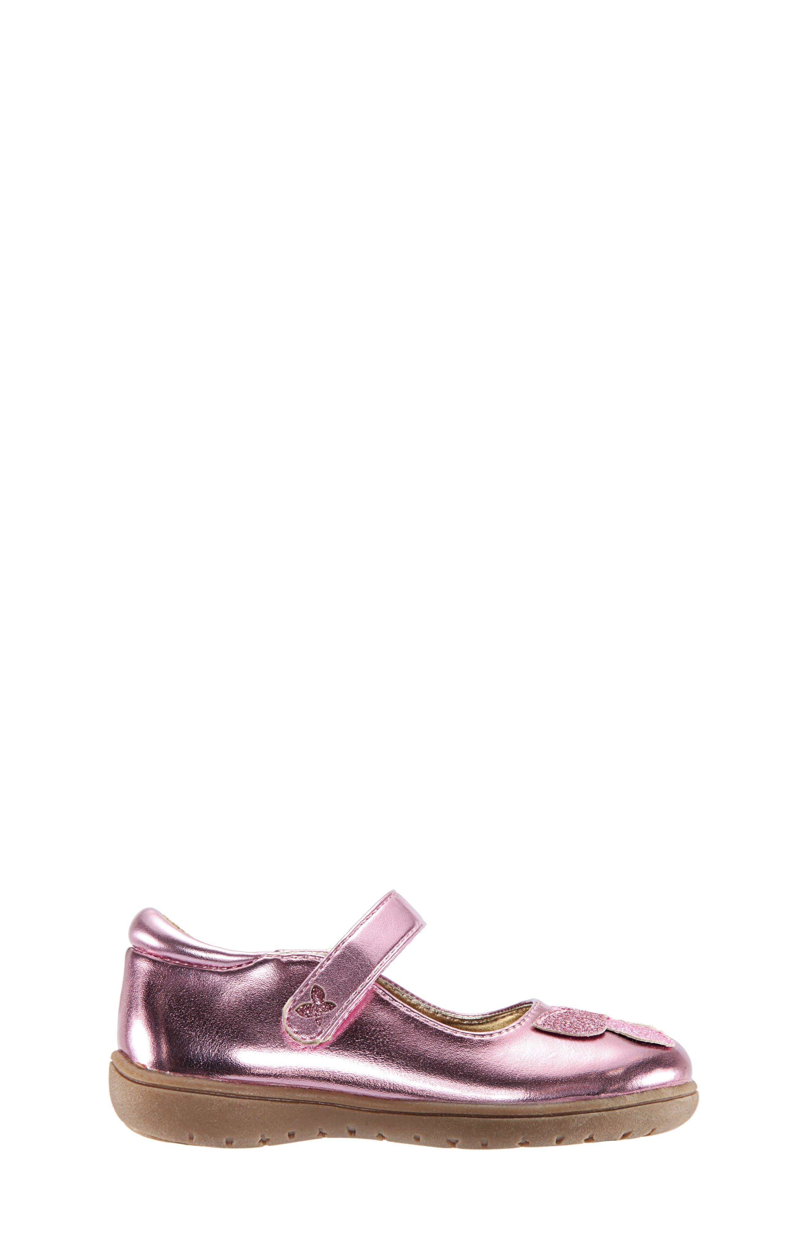 Alysha Glitter Mary Jane,                             Alternate thumbnail 3, color,                             PINK/ SMOOTH GLITTER
