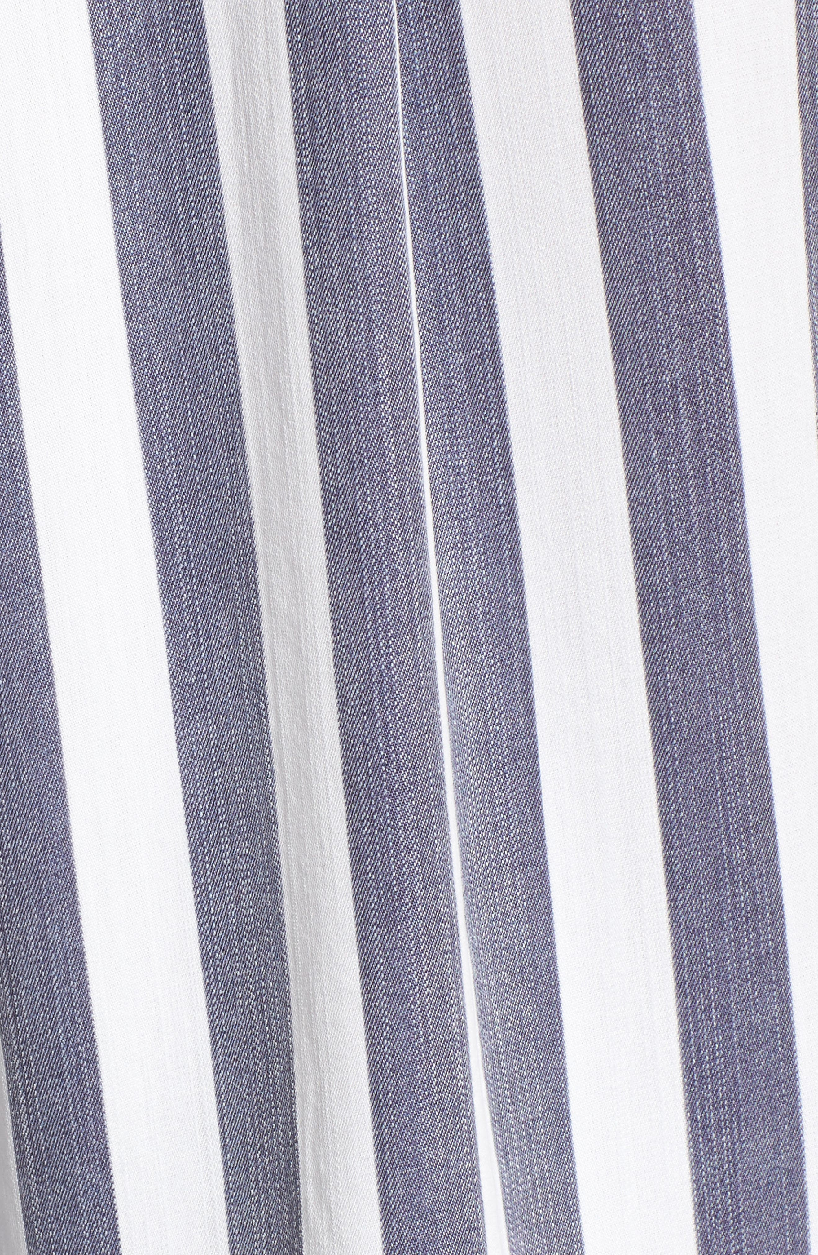 Val Stripe Tie Front Top,                             Alternate thumbnail 5, color,