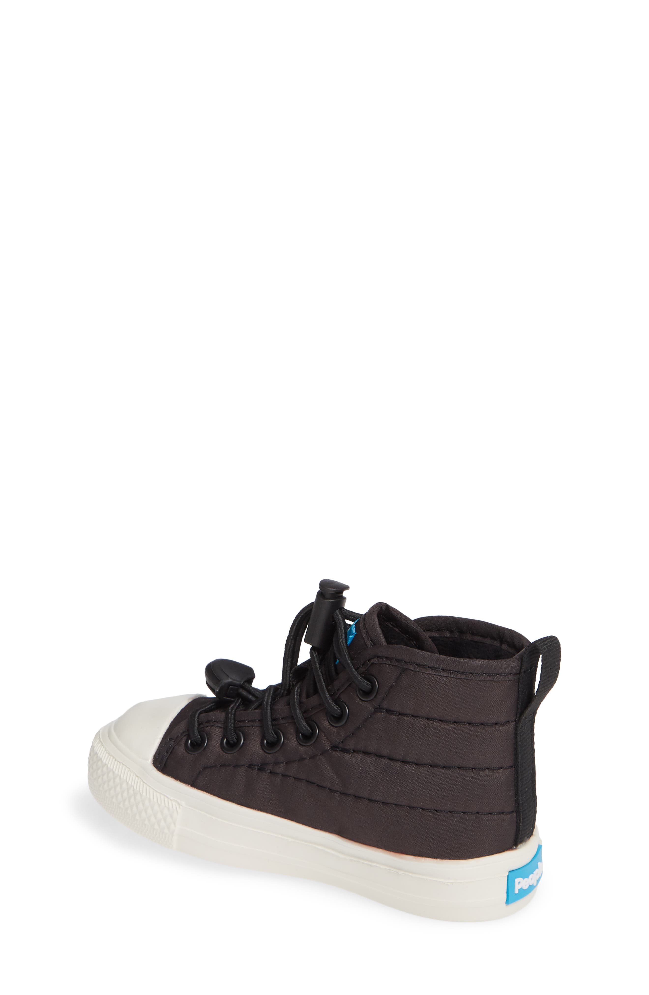 The Phillips Puffy Sneaker,                             Alternate thumbnail 2, color,                             REALLY BLACK/PICKET WHITE