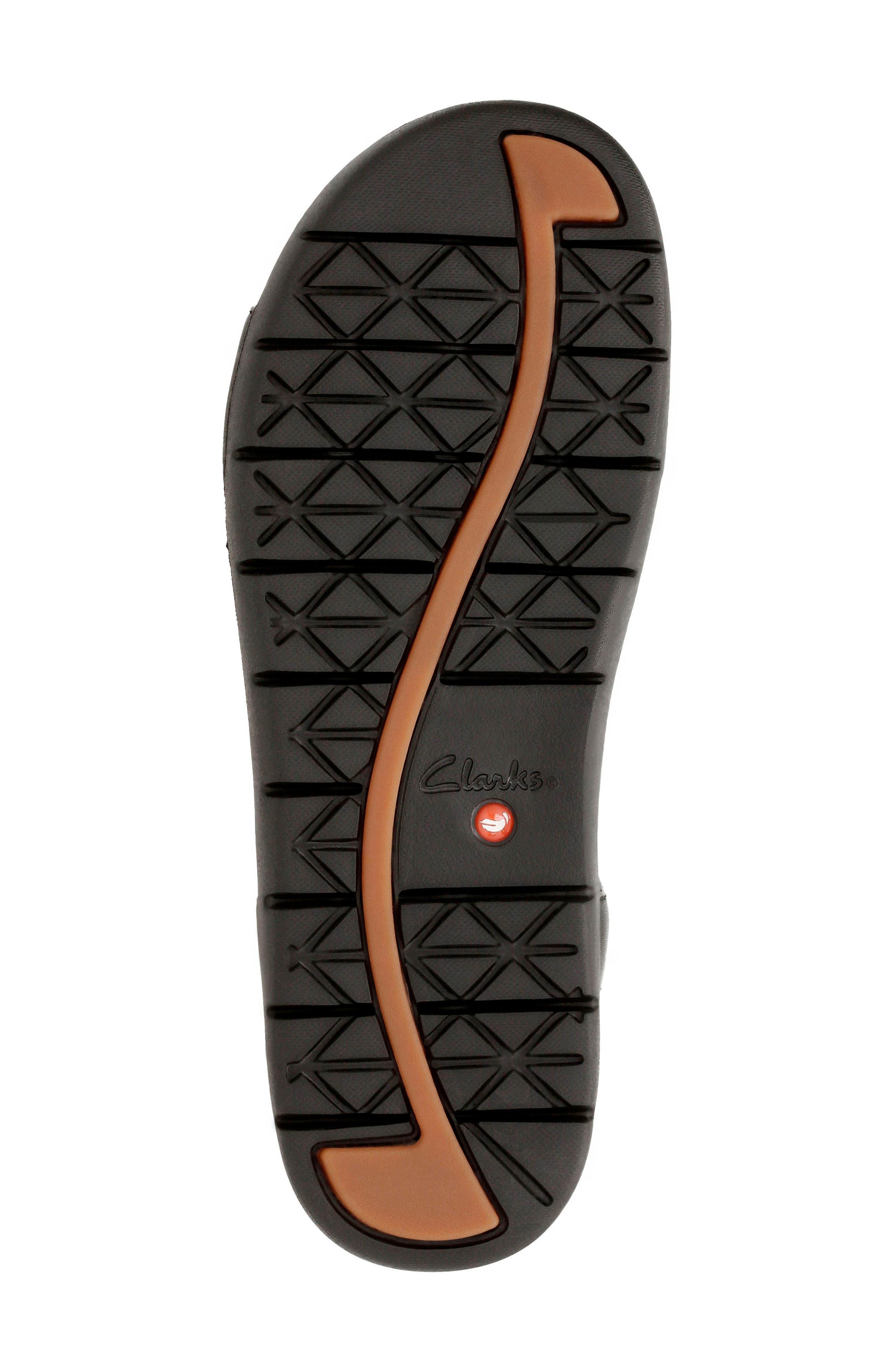 CLARKS<SUP>®</SUP>,                             Un Haywood T-Strap Sandal,                             Alternate thumbnail 4, color,                             003