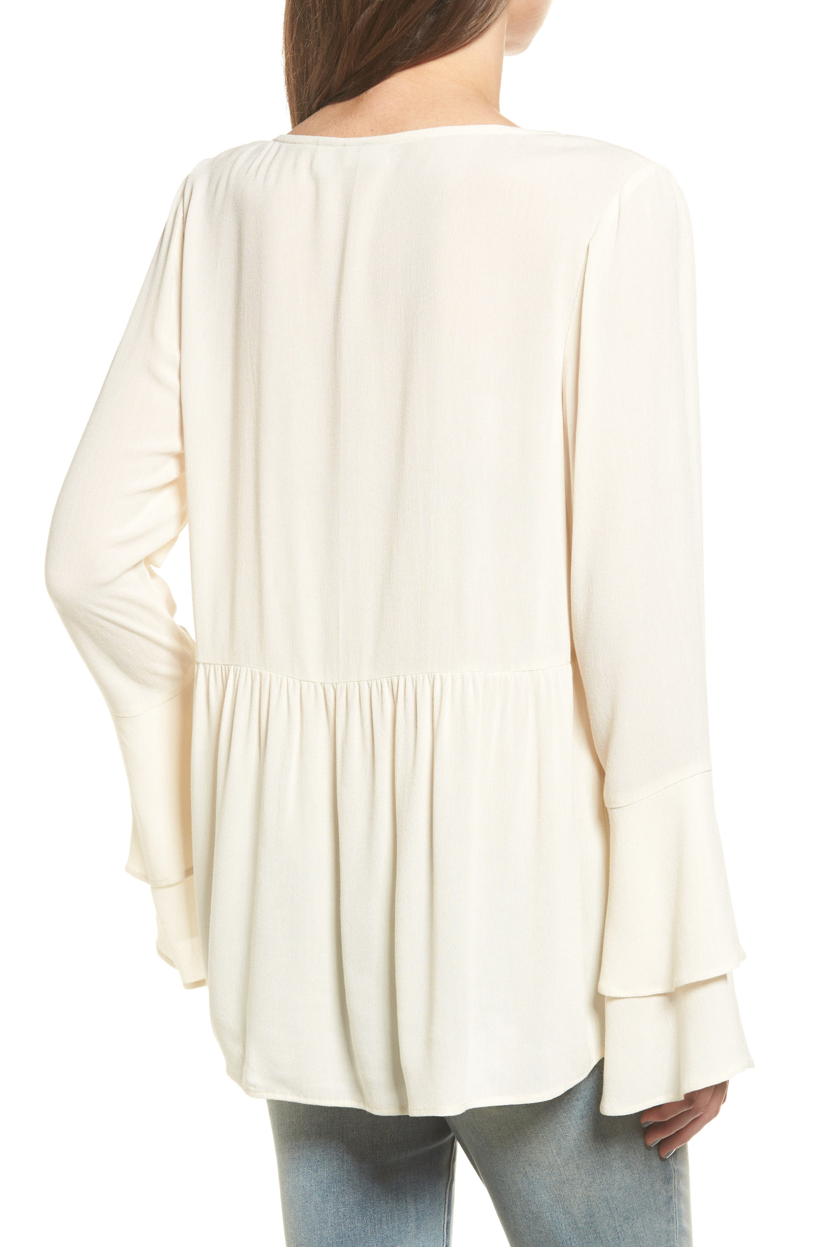 Bell Sleeve Top,                             Alternate thumbnail 6, color,
