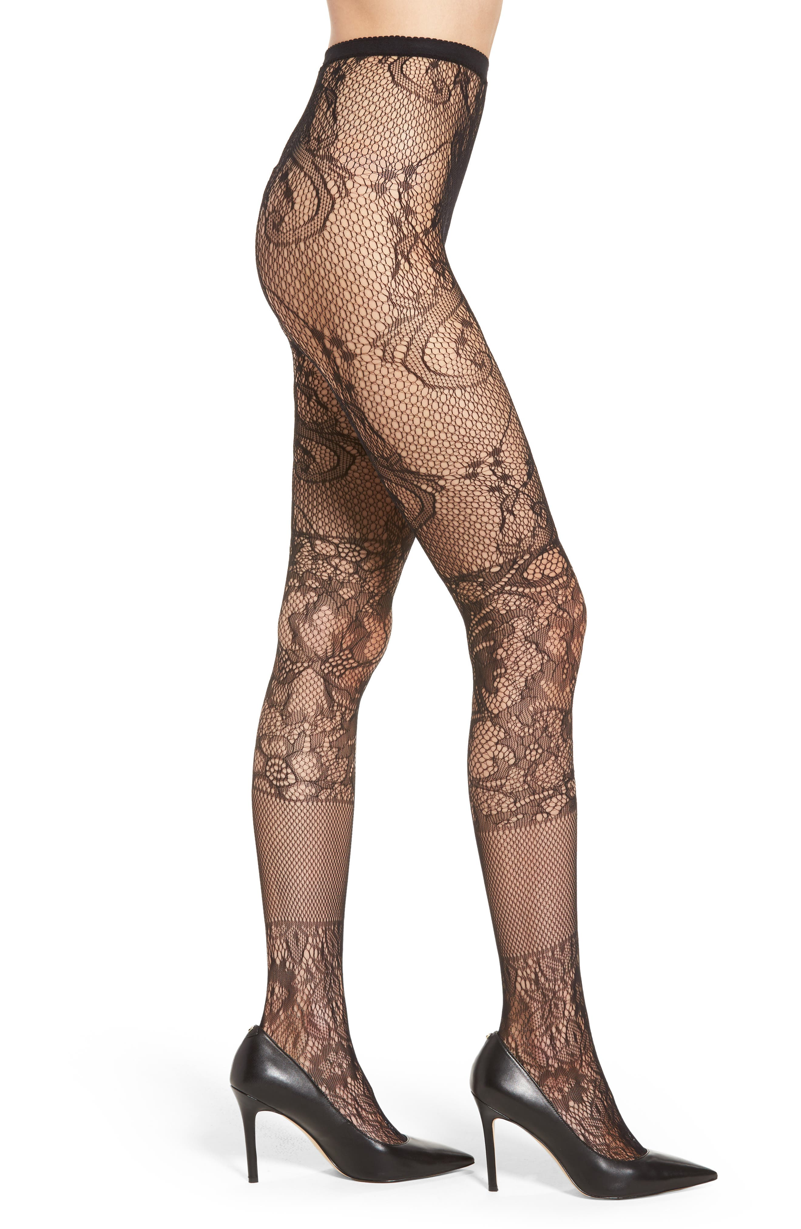 Fashion Net Tights,                         Main,                         color, 001