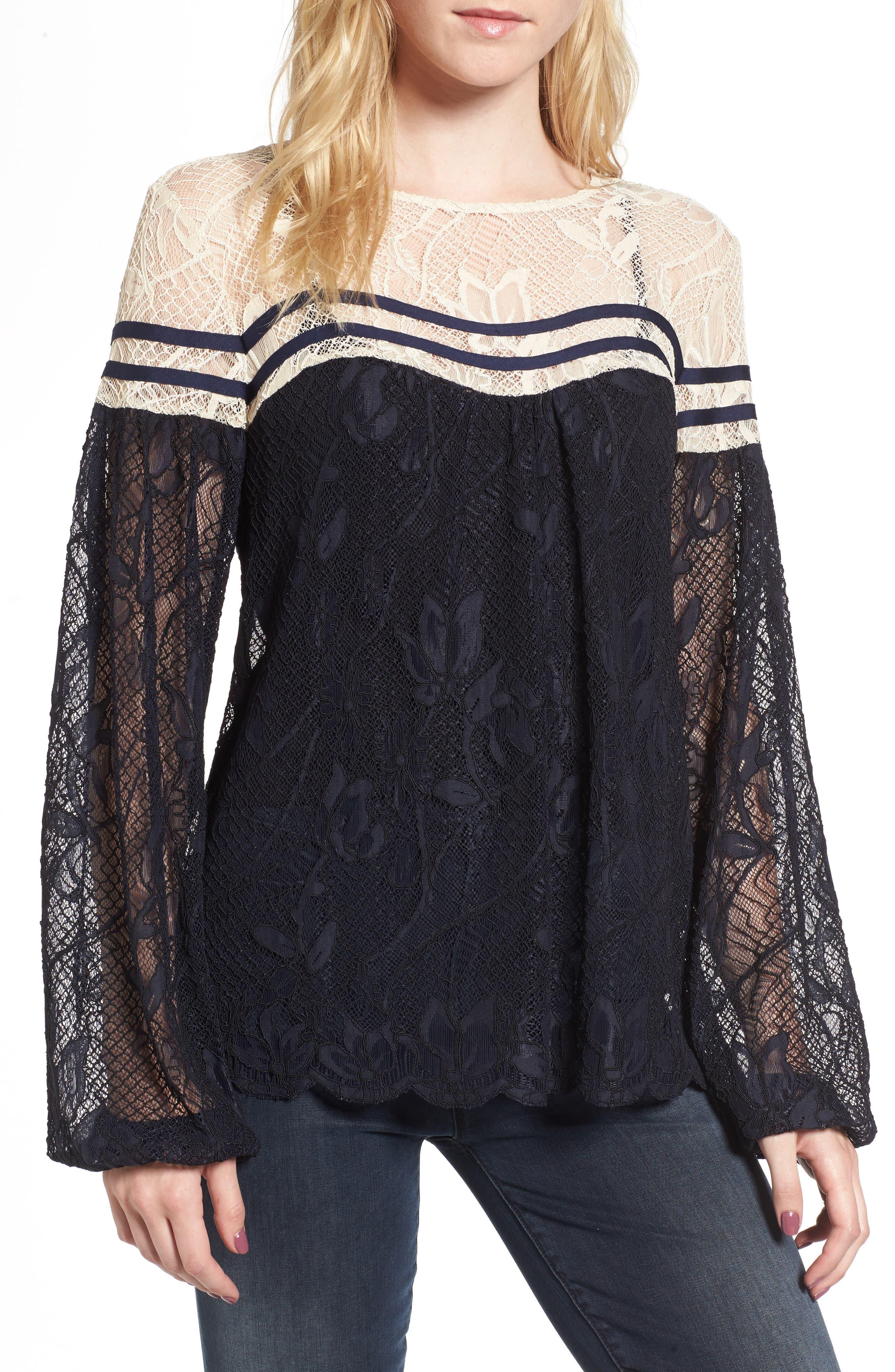Lace Top,                         Main,                         color, 410