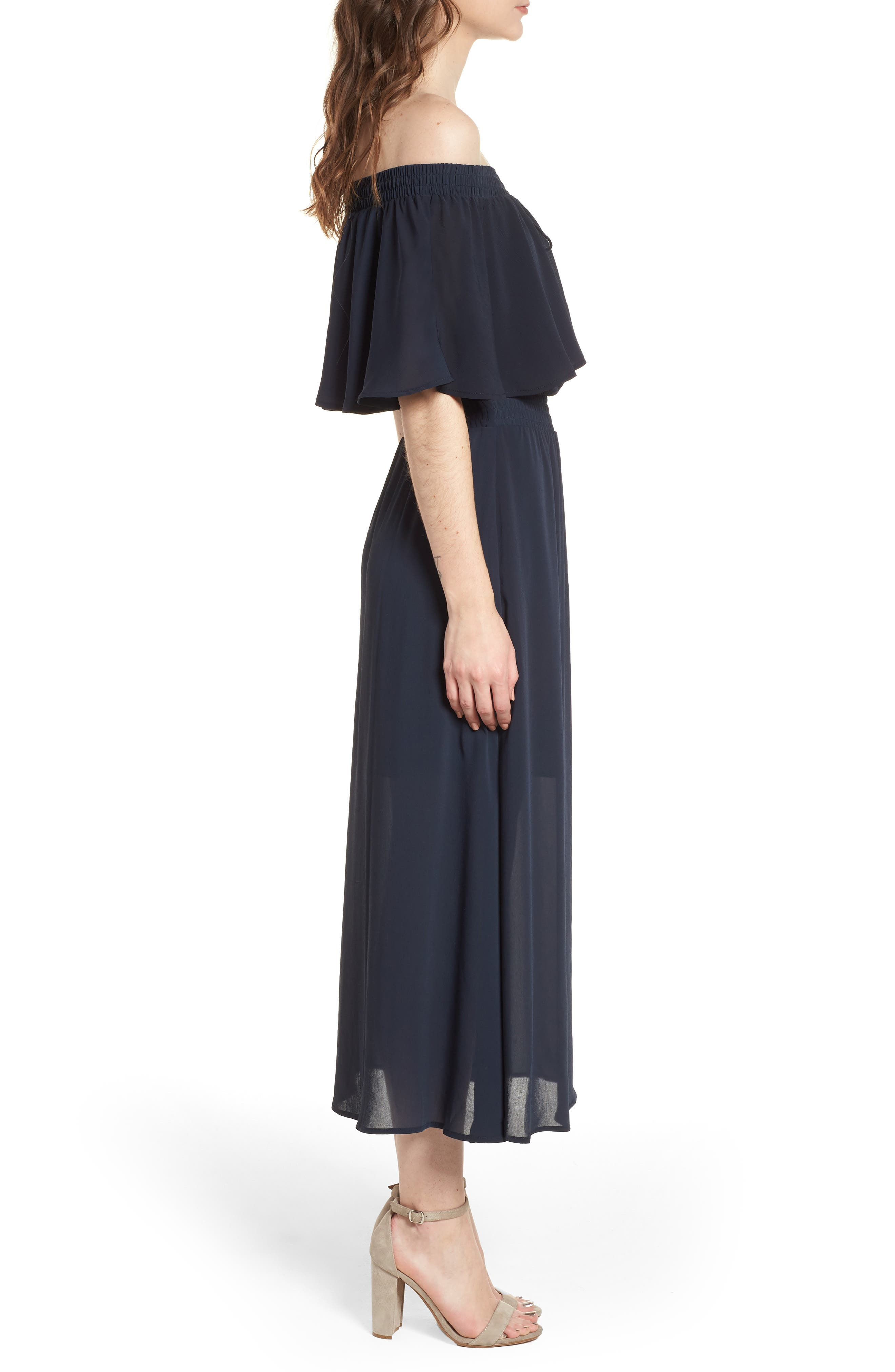 Touch the Sun Off the Shoulder Dress,                             Alternate thumbnail 3, color,                             410