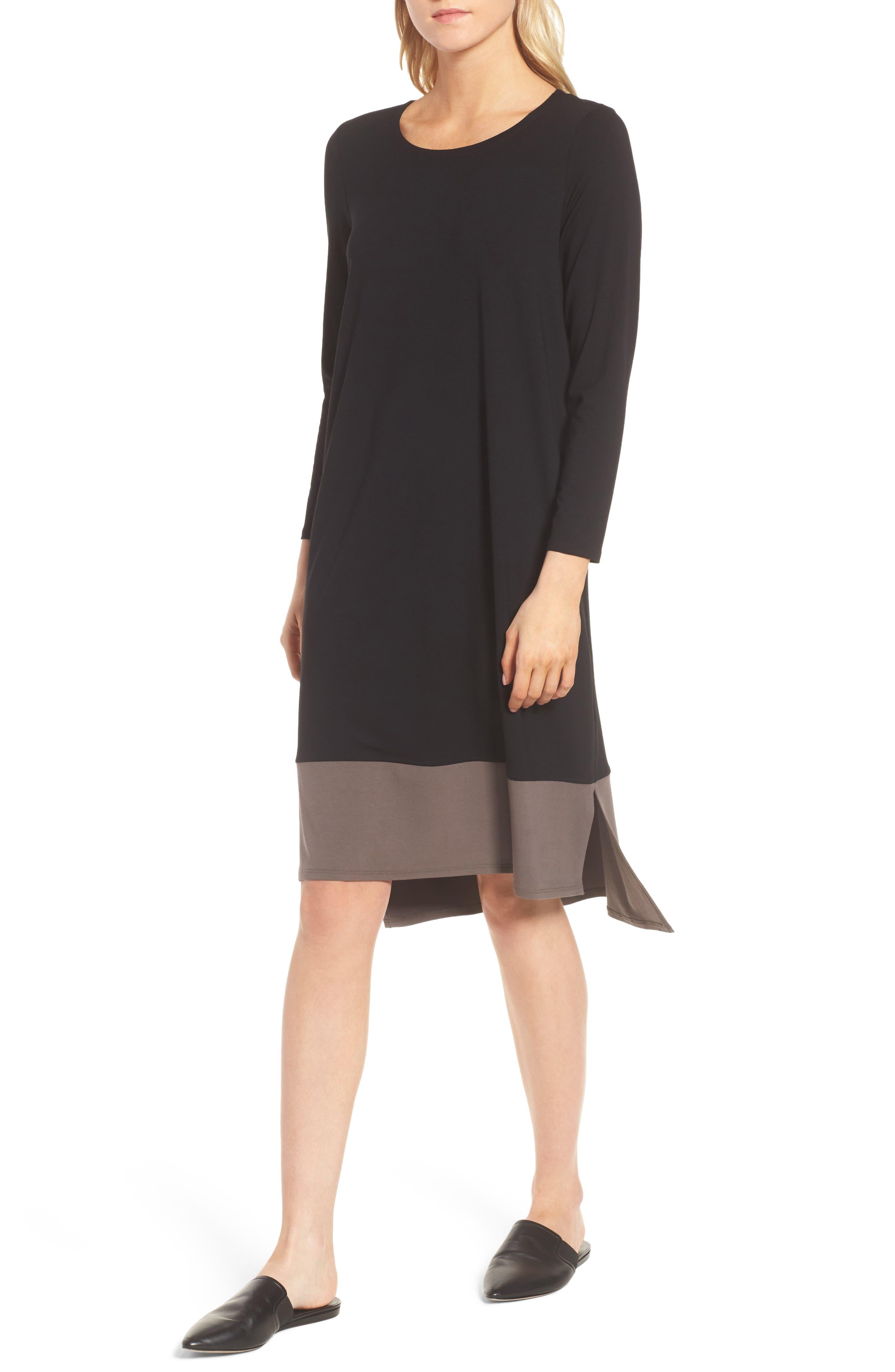Colorblock Jersey Shift Dress,                             Alternate thumbnail 4, color,