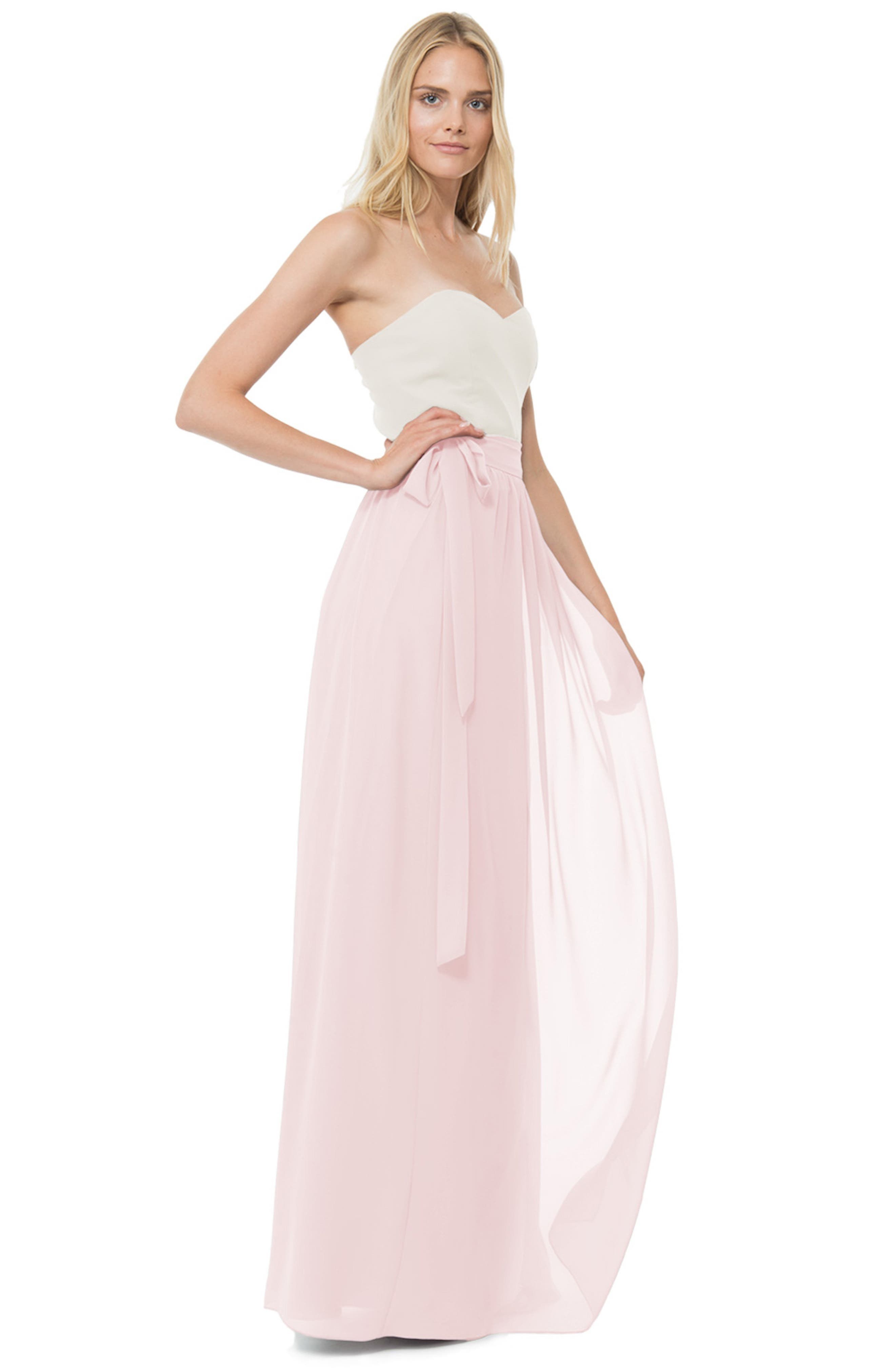 Whitney Chiffon Wrap Maxi Skirt,                             Alternate thumbnail 3, color,                             680