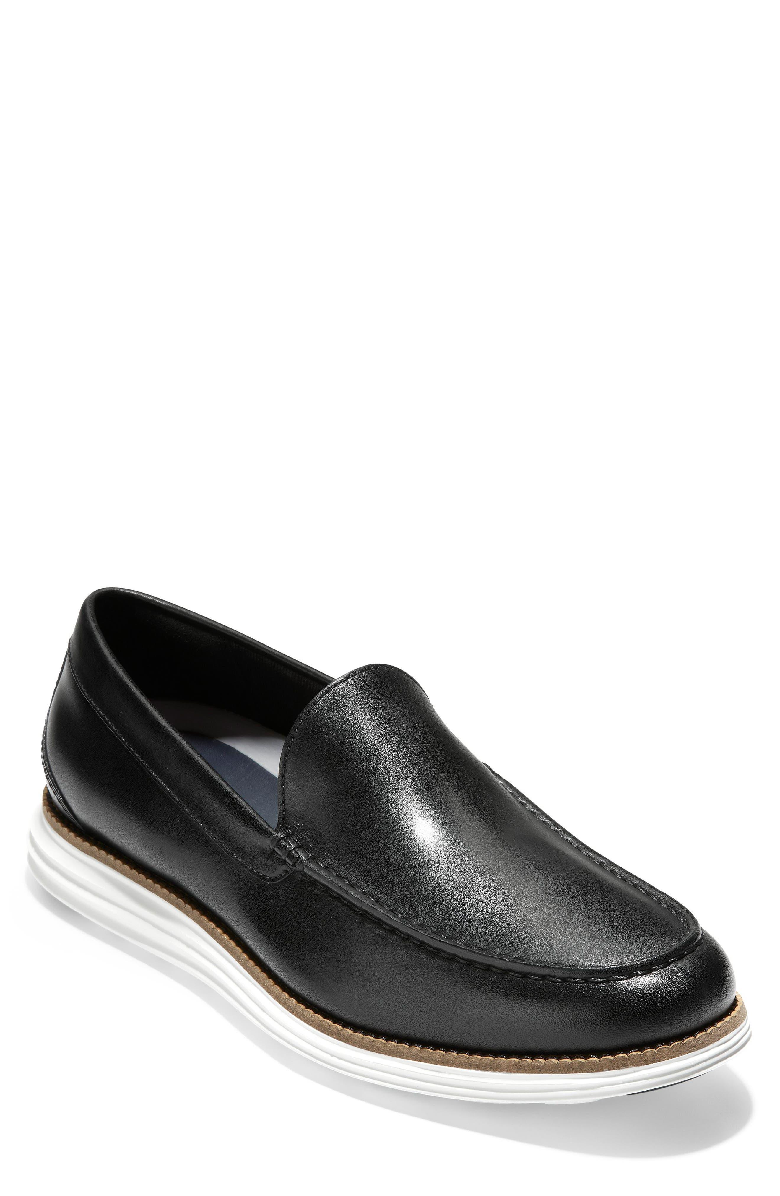 Original Grand Loafer,                             Main thumbnail 1, color,                             BLACK/ OPTIC WHITE LEATHER